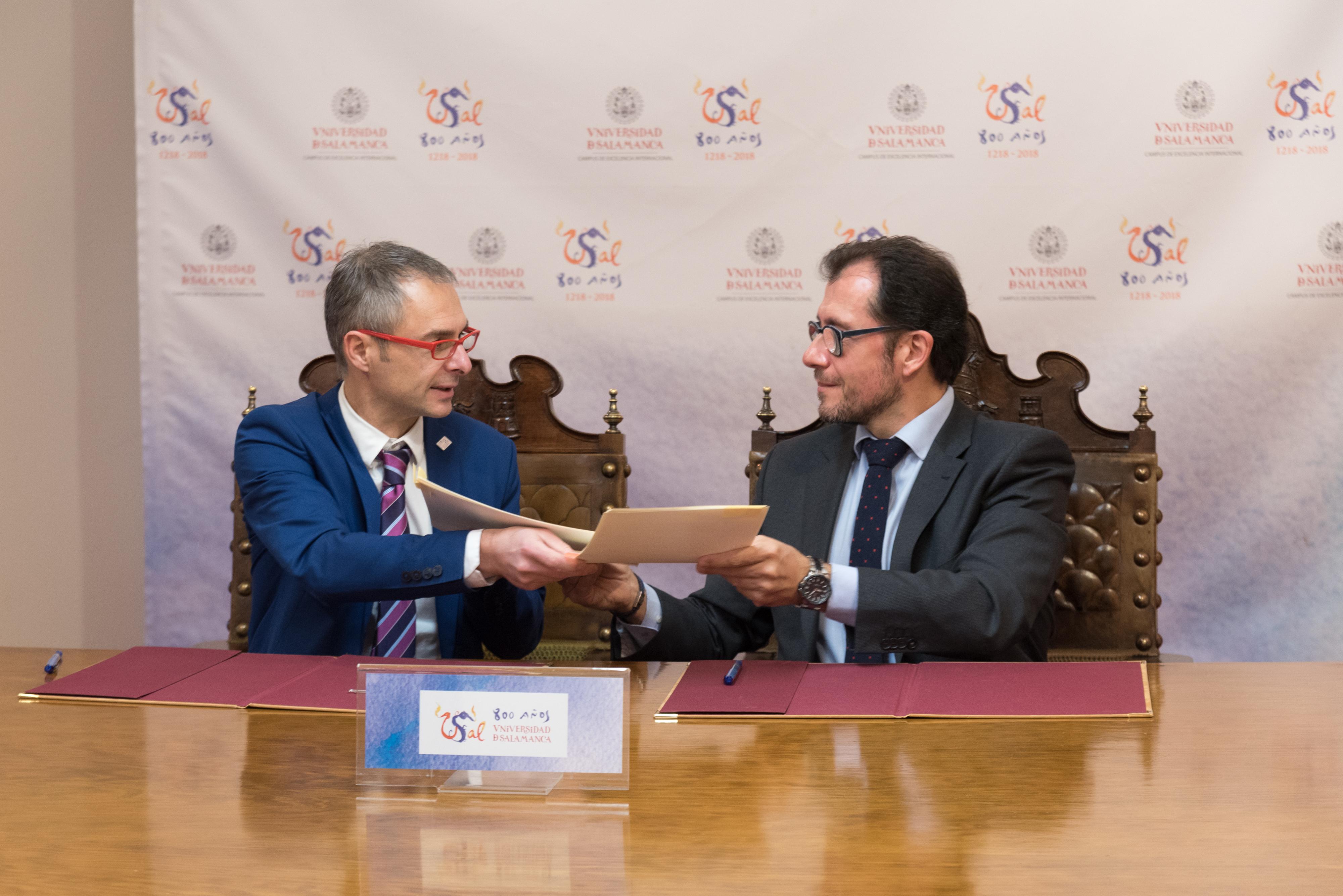 La Universidad de Salamanca y la ONCE colaborarán para facilitar la accesibilidad a alumnos extranjeros