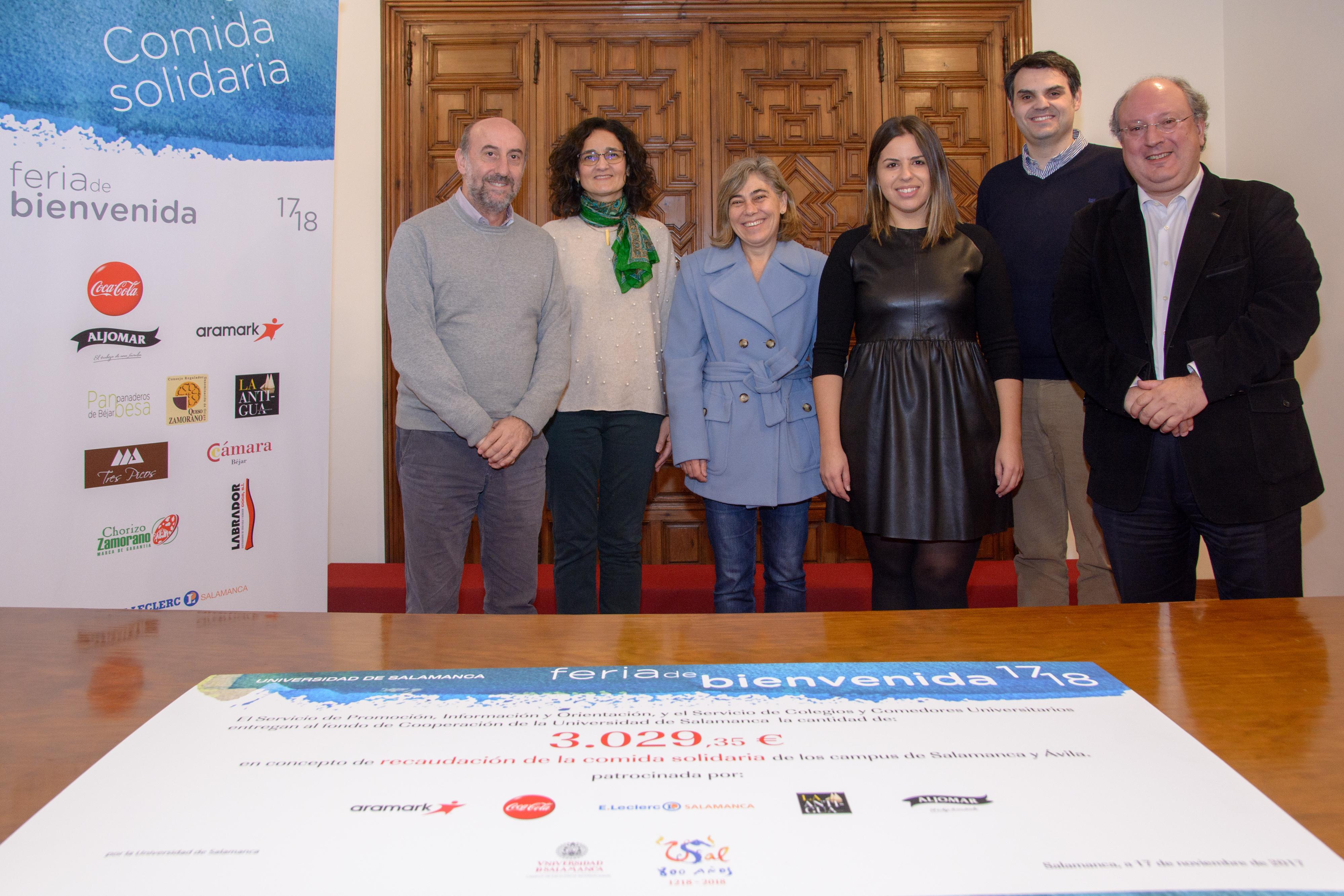 La Universidad consigue más de 3.000 € para su Fondo de Cooperación procedentes de los 'Bocadillos Solidarios' de Salamanca y Ávila