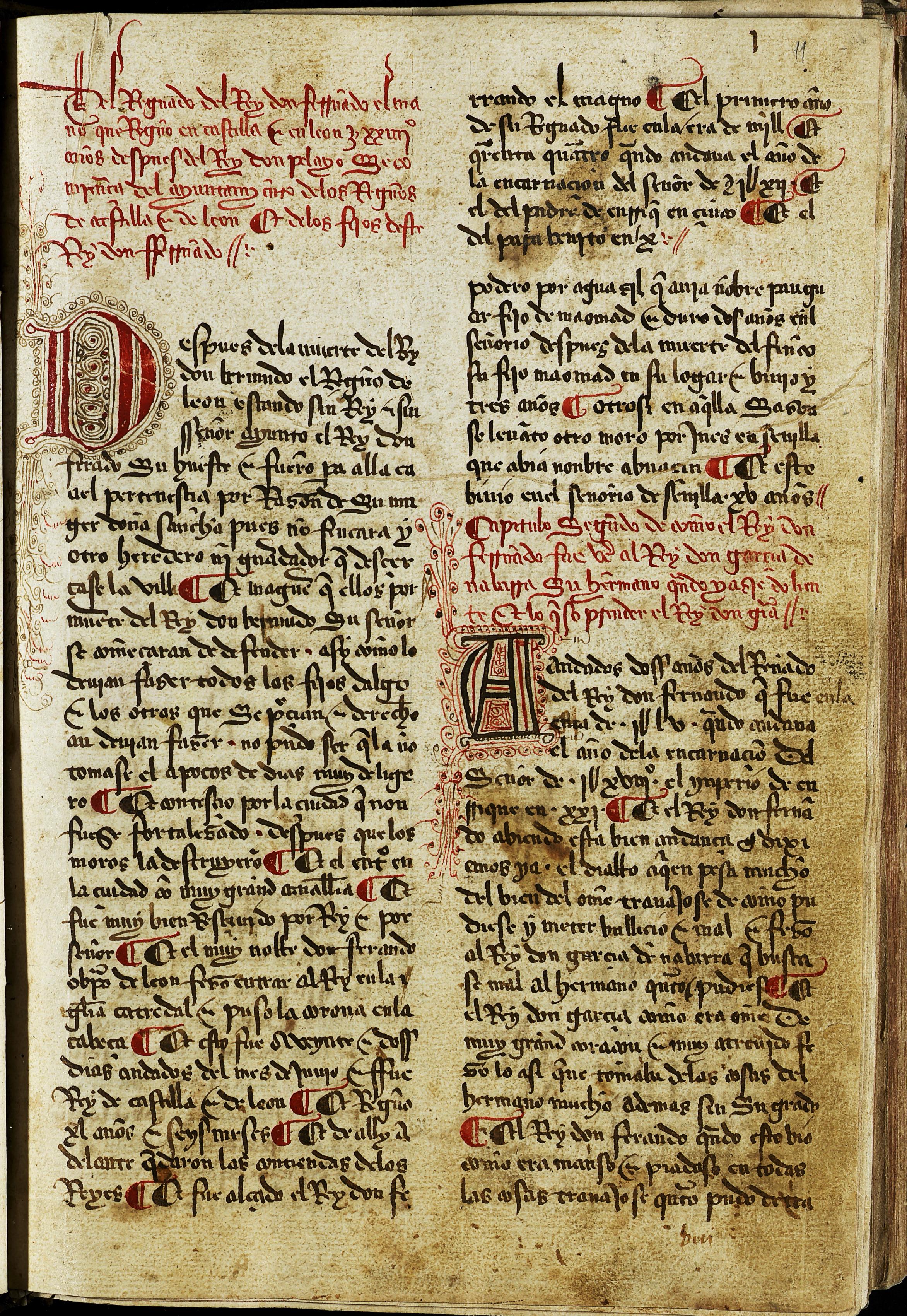 El VIII Centenario reúne por primera vez en una exposición los manuscritos de la 'Estoria de España' conservados en la Biblioteca General de la Universidad de Salamanca