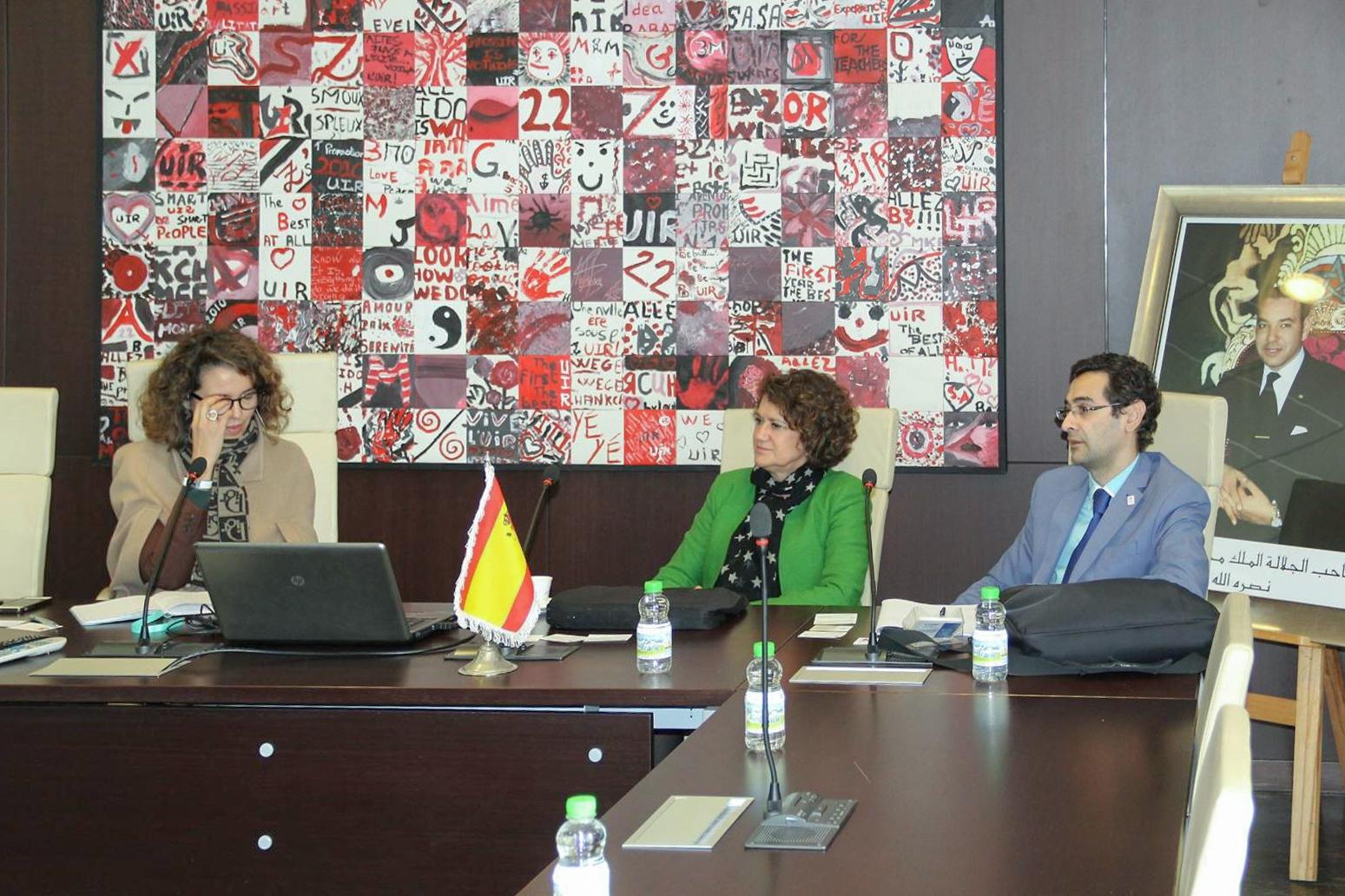 La vicerrectora de Internacionalización promociona el Estudio salmantino en la Universidad Internacional de Rabat