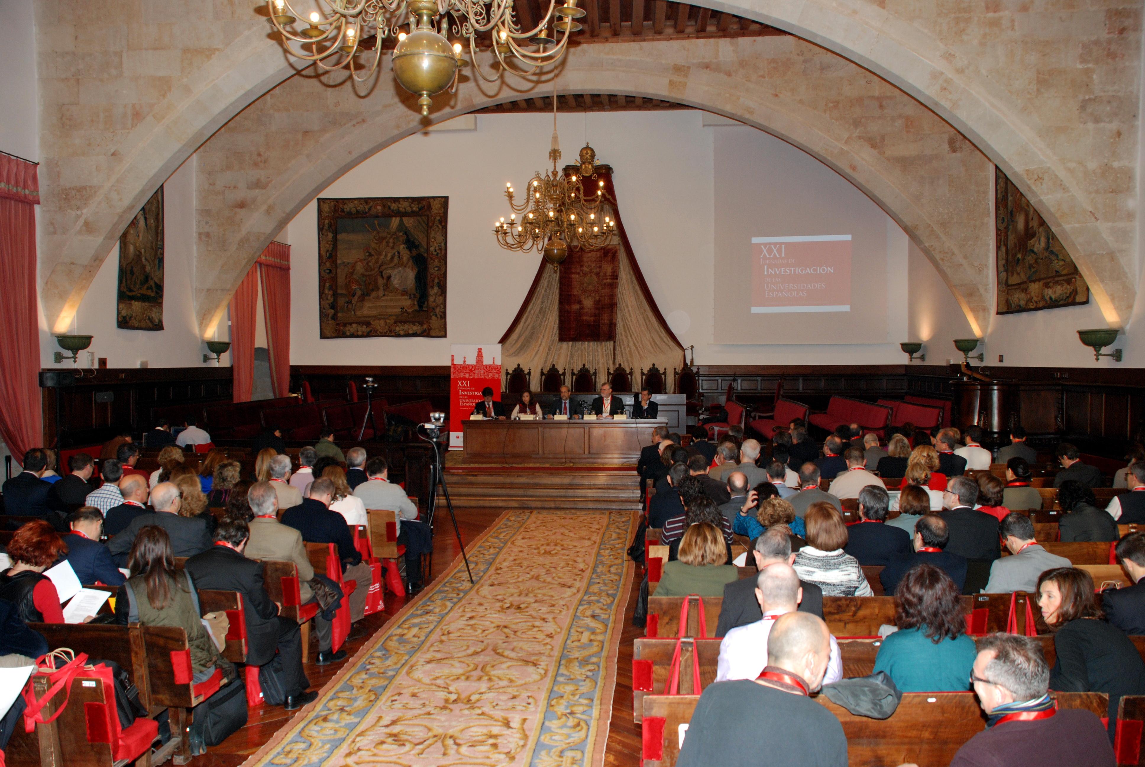 Inauguración de las XXI Jornadas de Investigación de las Universidades Españolas