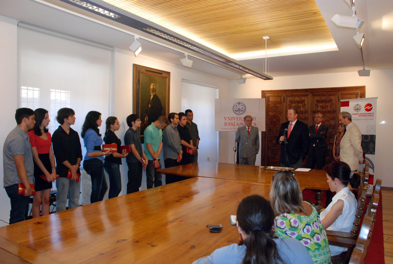 Recibimiento a los alumnos brasileños del programa de becas PROUNI