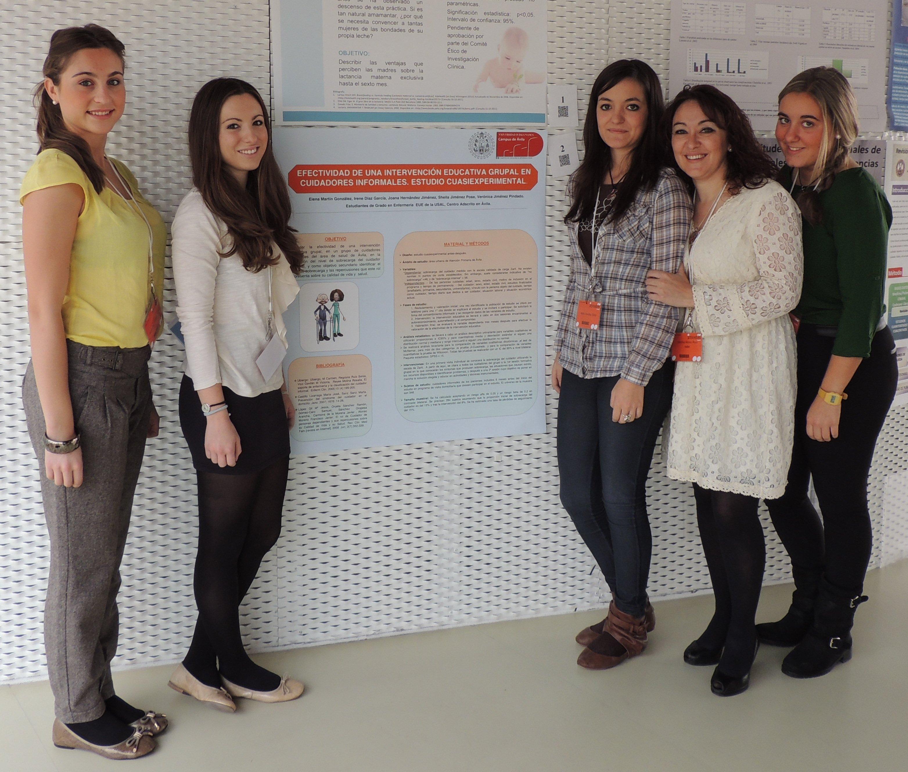 Estudiantes de la Escuela de Enfermería de Ávila reciben un premio en el XVI Congreso de Enfermería de INVESTEN