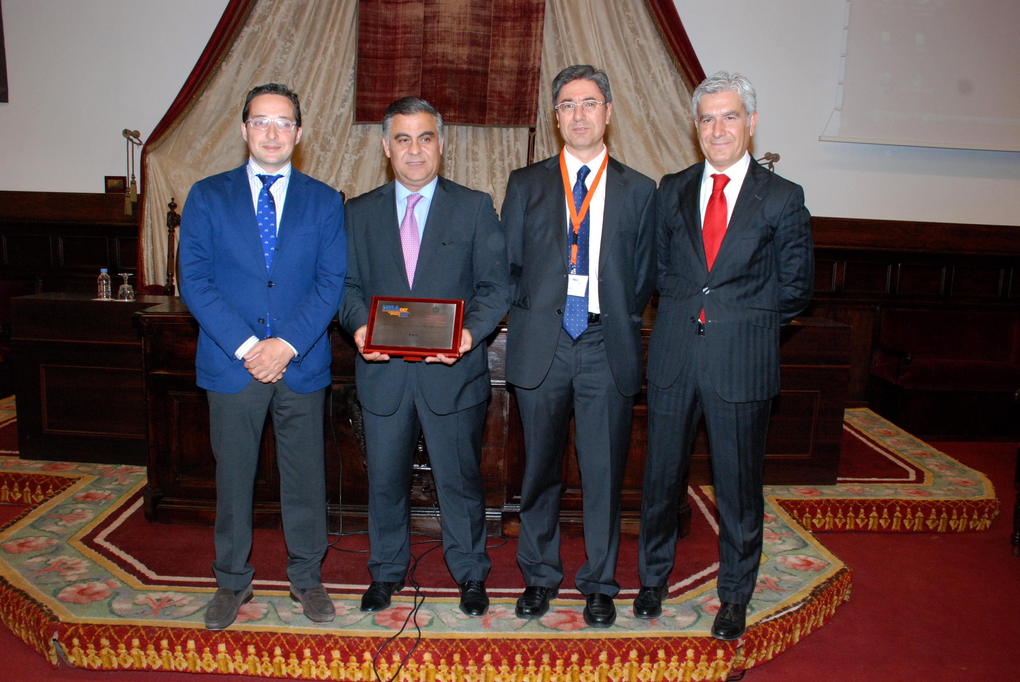 El MBA en Dirección de Empresas Familiares de la Universidad de Salamanca entrega el Premio Empresa Colaboradora MBA DEF a PwC