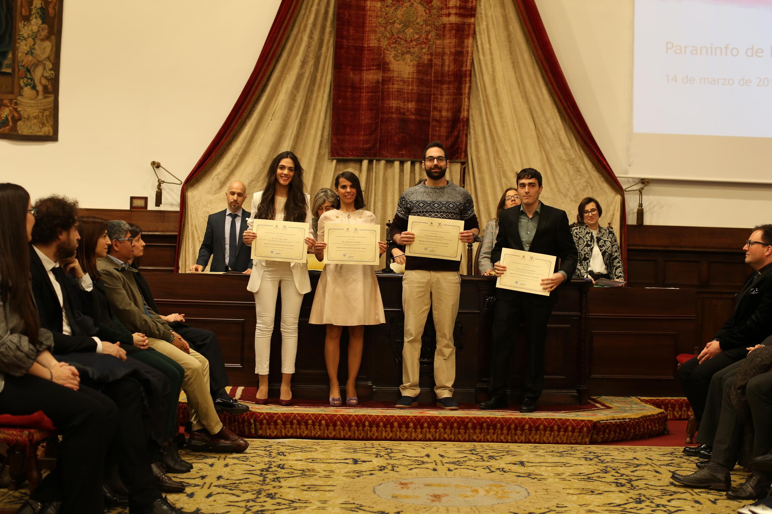 Fotografía de Premio Extraordinario de Grado y de Grado de Salamanca 2