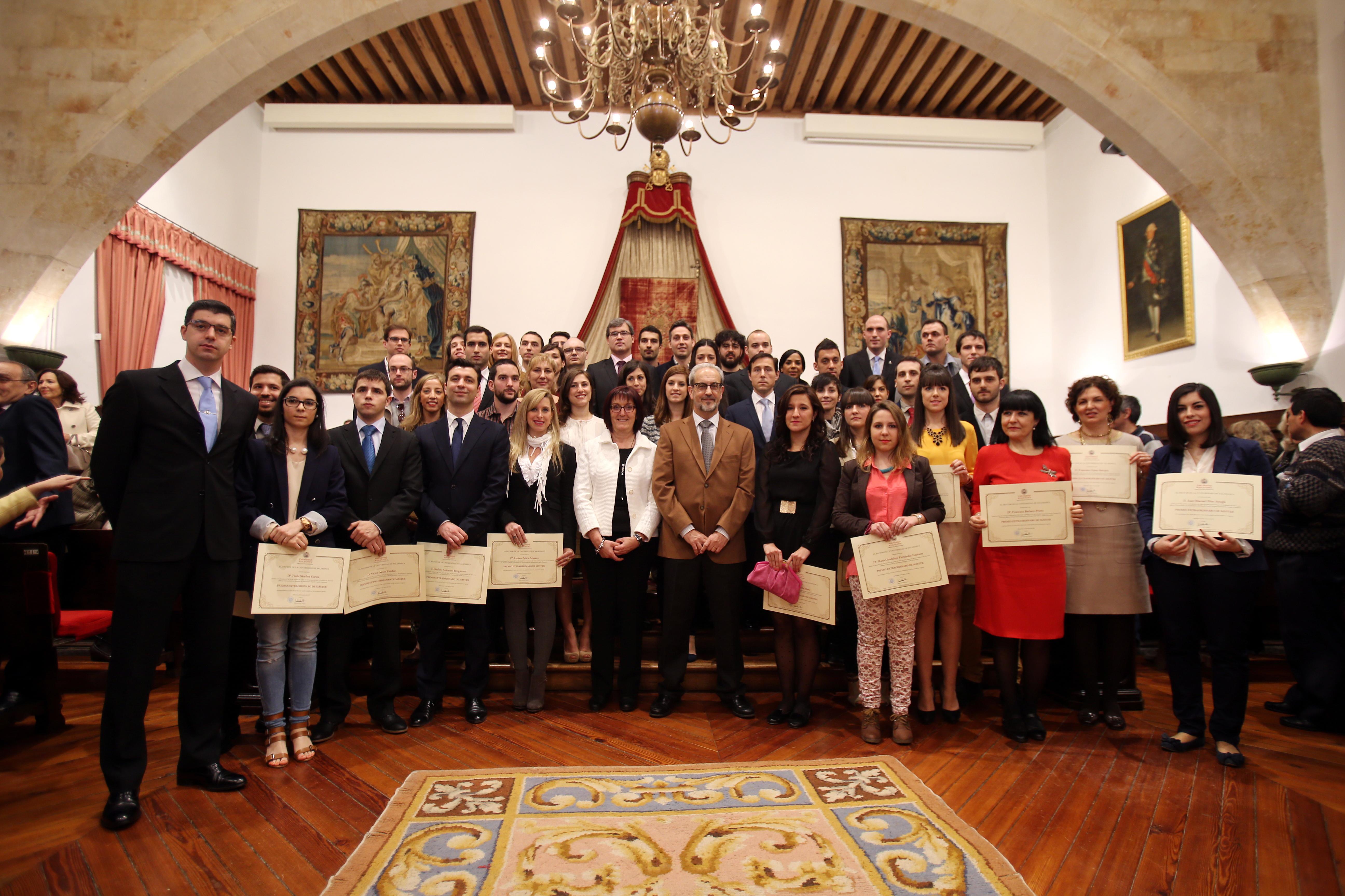 185 estudiantes reciben los premios extraordinarios de Grado, Grado de Salamanca, Máster y Doctorado de la Universidad de Salamanca