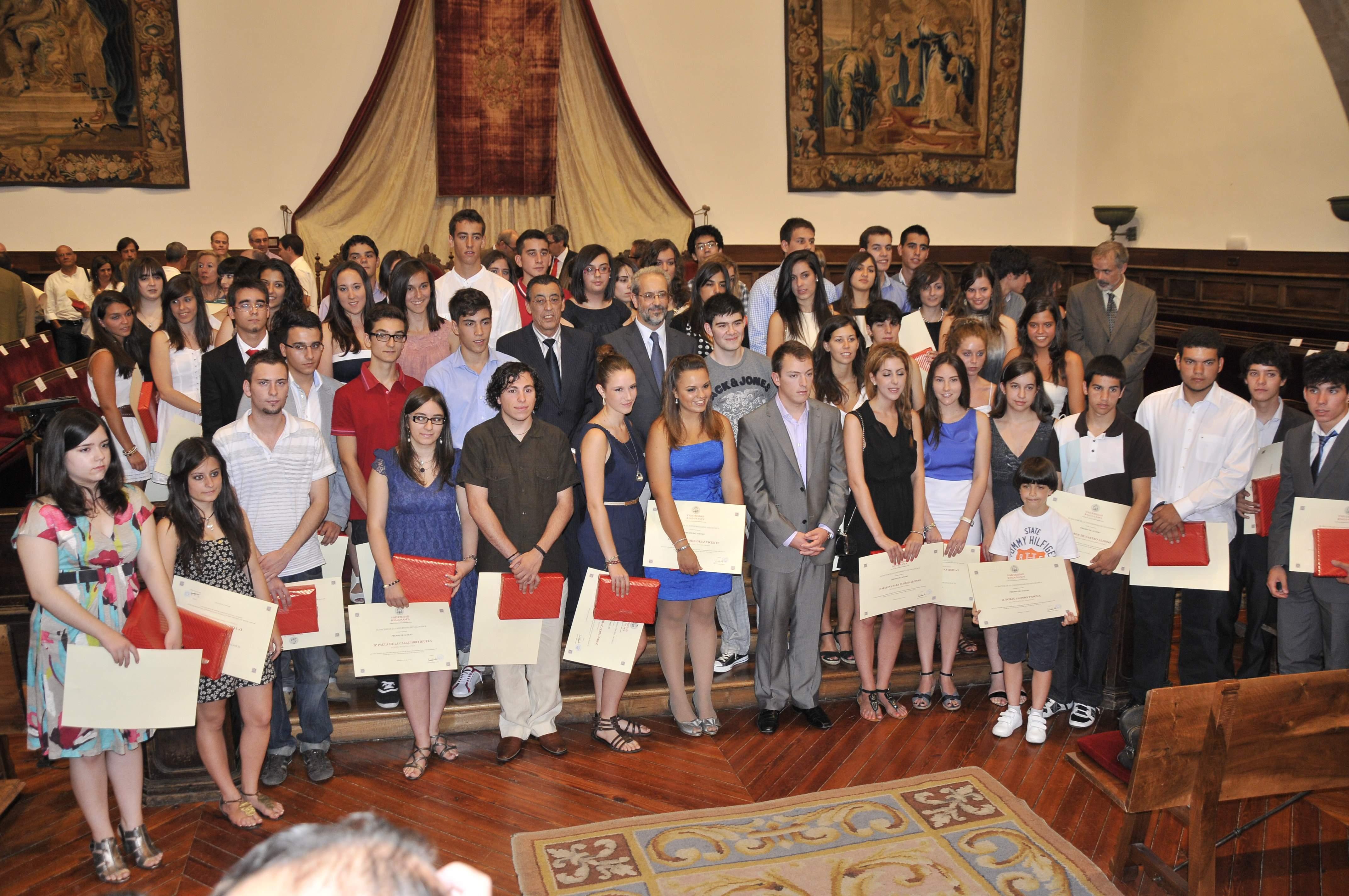 Premios de Acceso 2011 a los mejores estudiantes de Selectividad