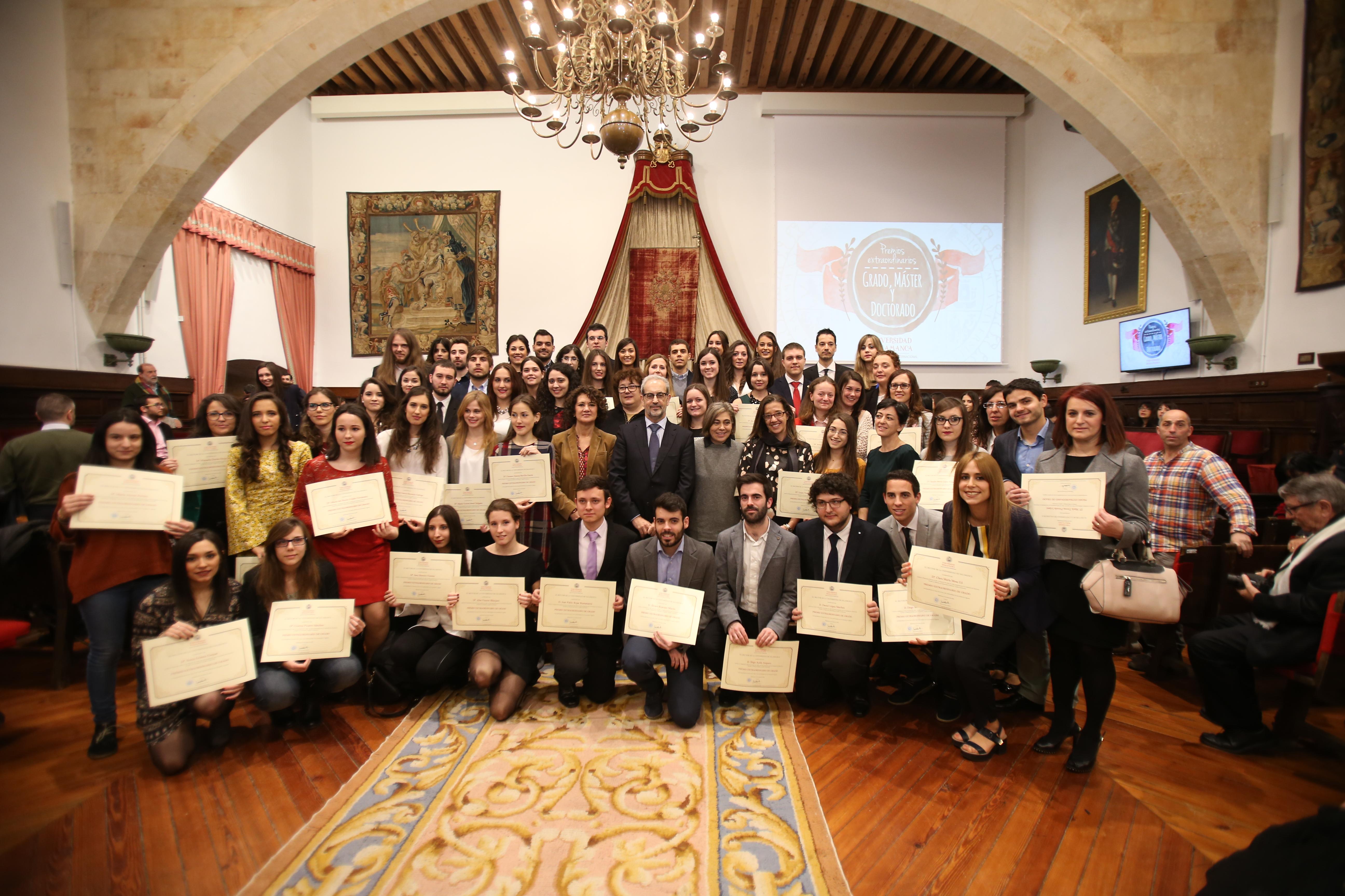 Más de 120 estudiantes reciben los premios extraordinarios de Grado, Grado de Salamanca, Máster y Doctorado de la Universidad de Salamanca