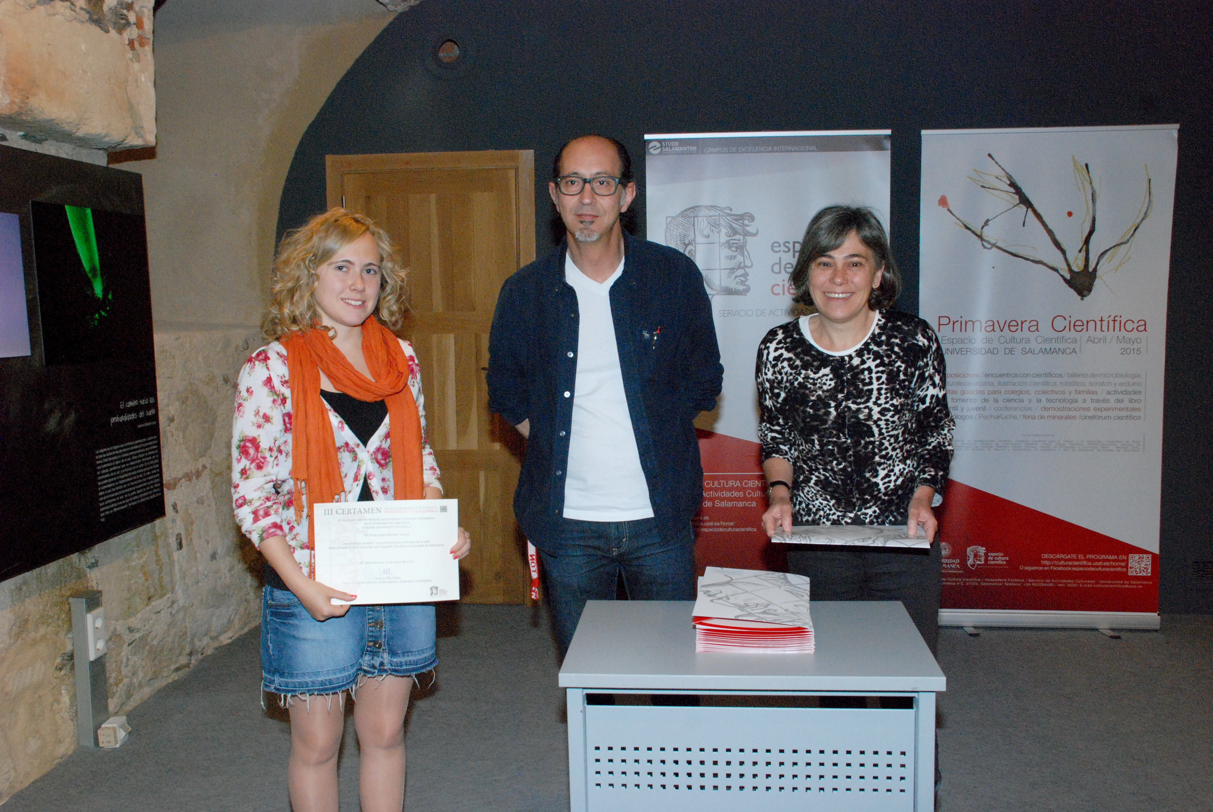 Alexandra Díez, Mª Inmaculada Sánchez y José David Flores, galardonados con los primeros premios en el III Certamen de Fotografía Científica