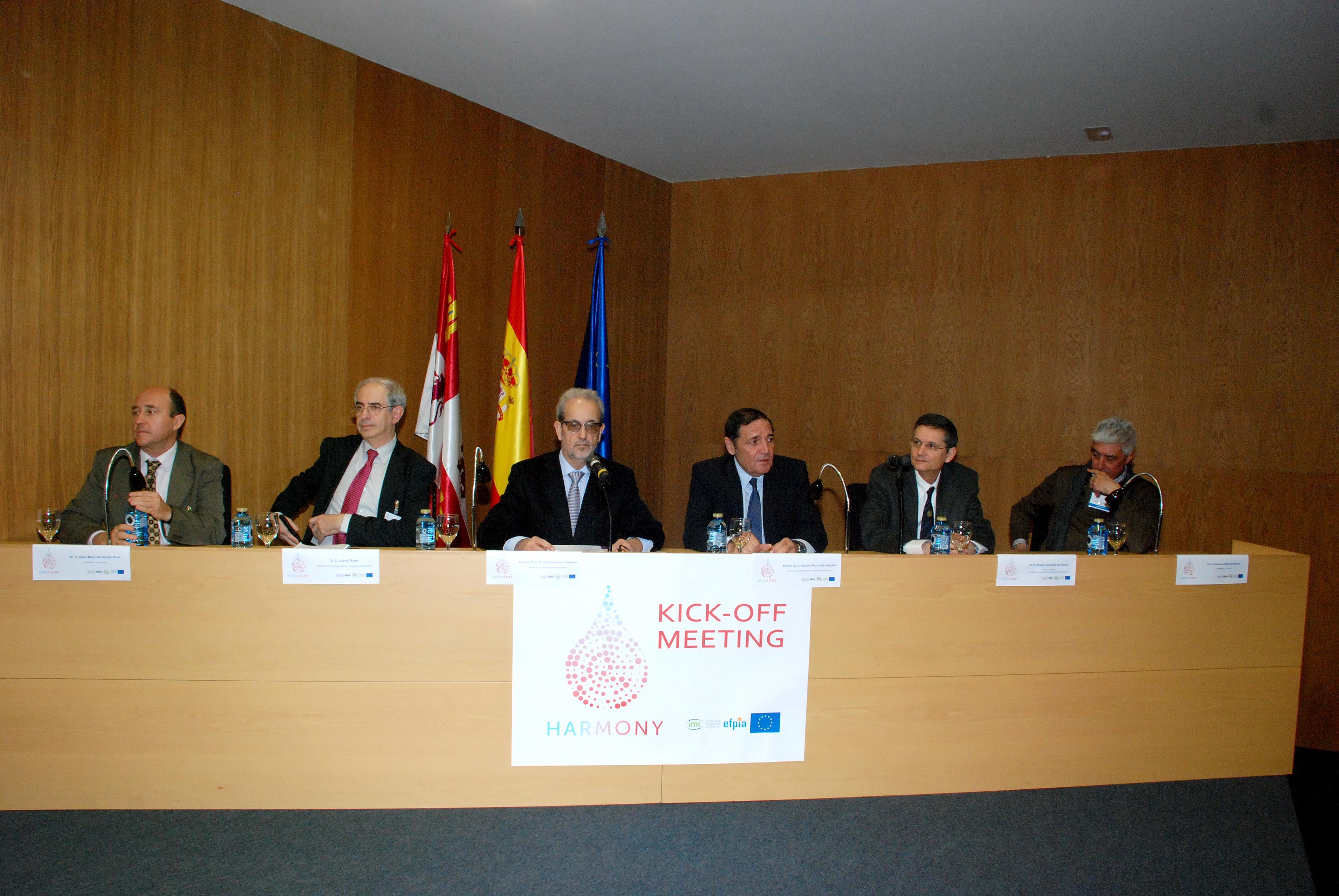 El rector de la Universidad de Salamanca y el consejero de Sanidad presentan el proyecto europeo HARMONY, coordinado por el Instituto de Investigación Biomédica de Salamanca (IBSAL)
