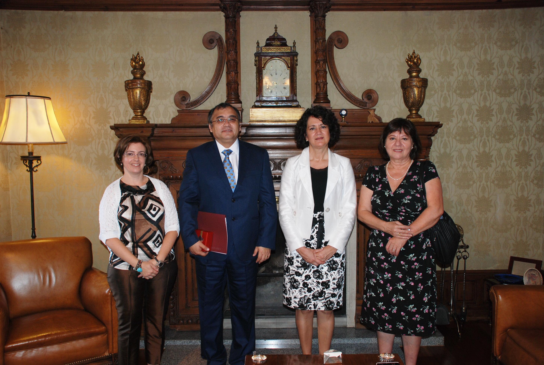 Visita del rector de la Universidad de Tarapacá
