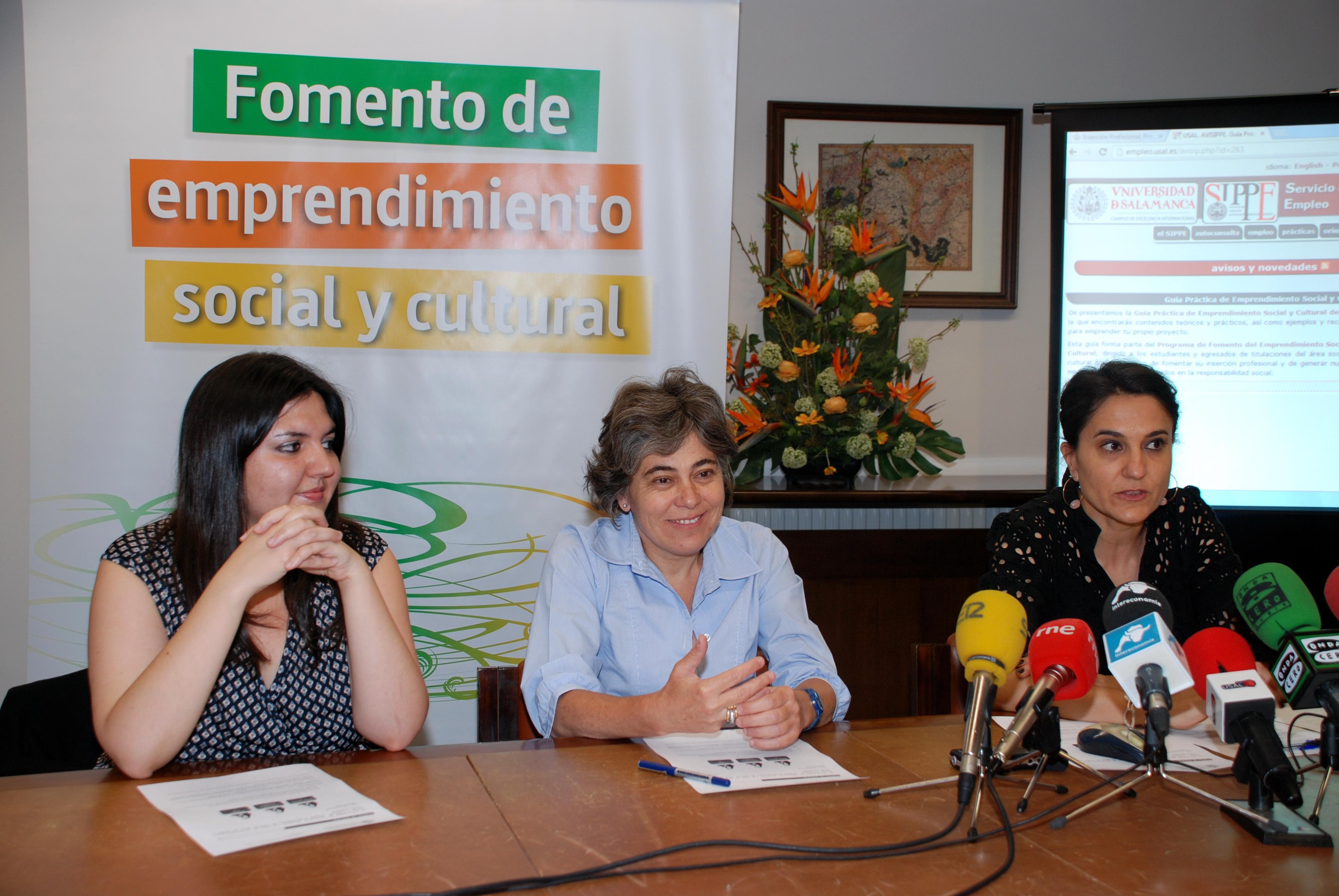 El Servicio de Inserción Profesional, Prácticas y Empleo de la Universidad de Salamanca presenta 'La Guía de Emprendimiento Social y Cultural'
