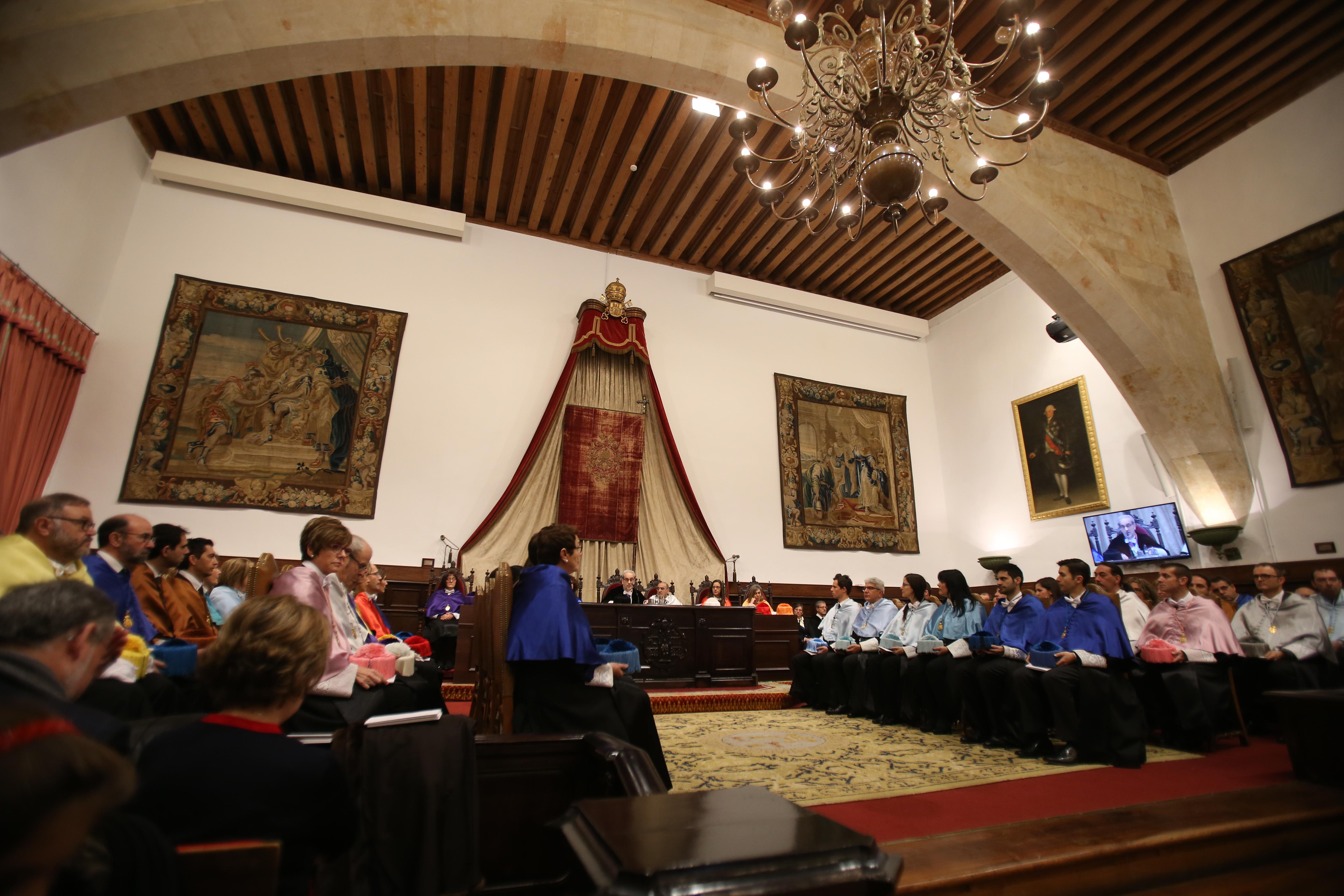 La Universidad de Salamanca celebra la sesión académica de la festividad de Santo Tomás de Aquino con la investidura de 18 nuevos doctores