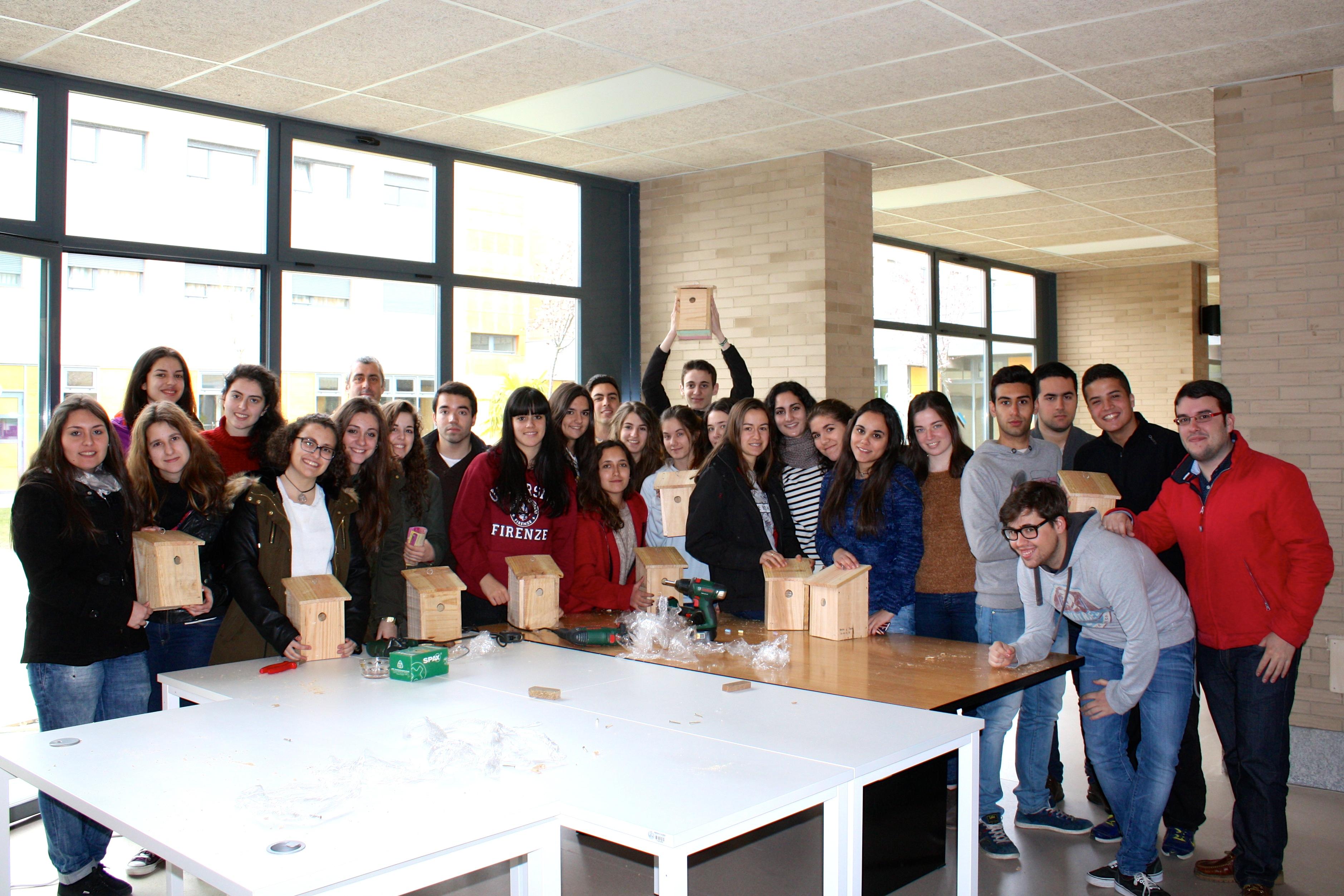 Finaliza el taller de ornitología y cajas nido en el Colegio Mayor San Bartolomé