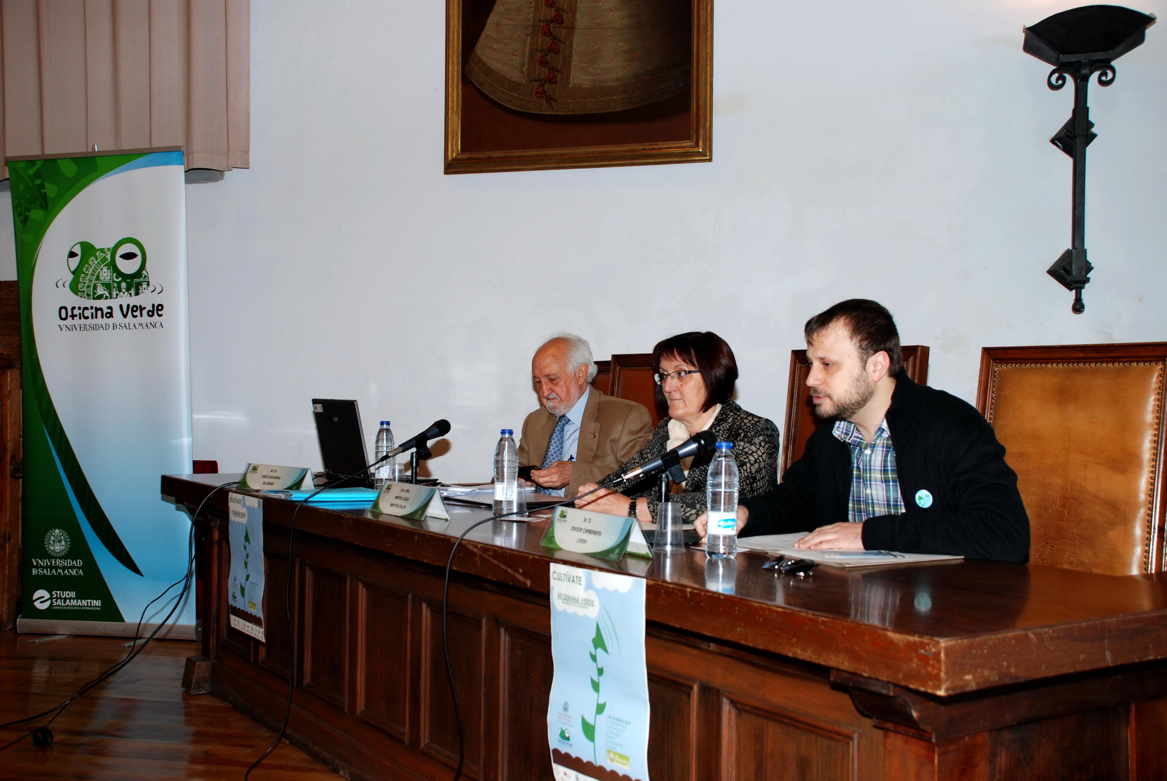 La secretaria general, Mª Luisa Martín Calvo, inaugura la VII Semana Verde de la Universidad de Salamanca