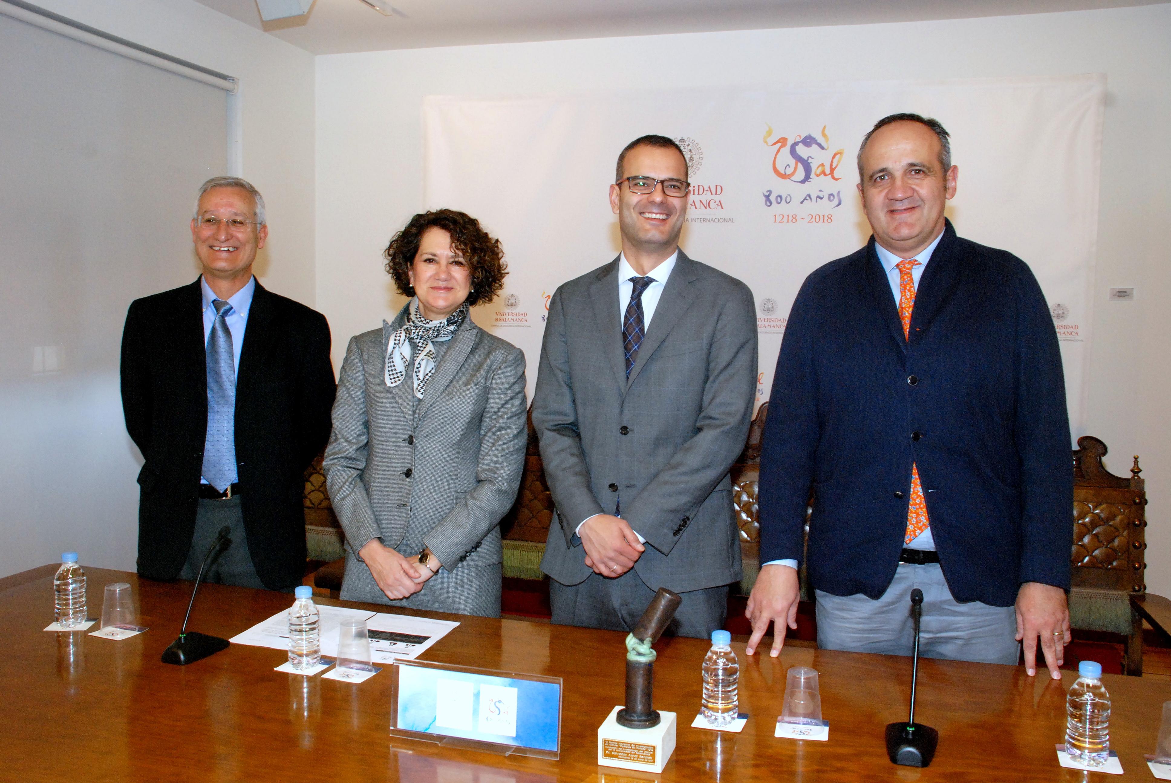 Eugenio Santo, Mª Ángeles Serrano, Salvador Aznar Benitah y Nicolás Rodríguez