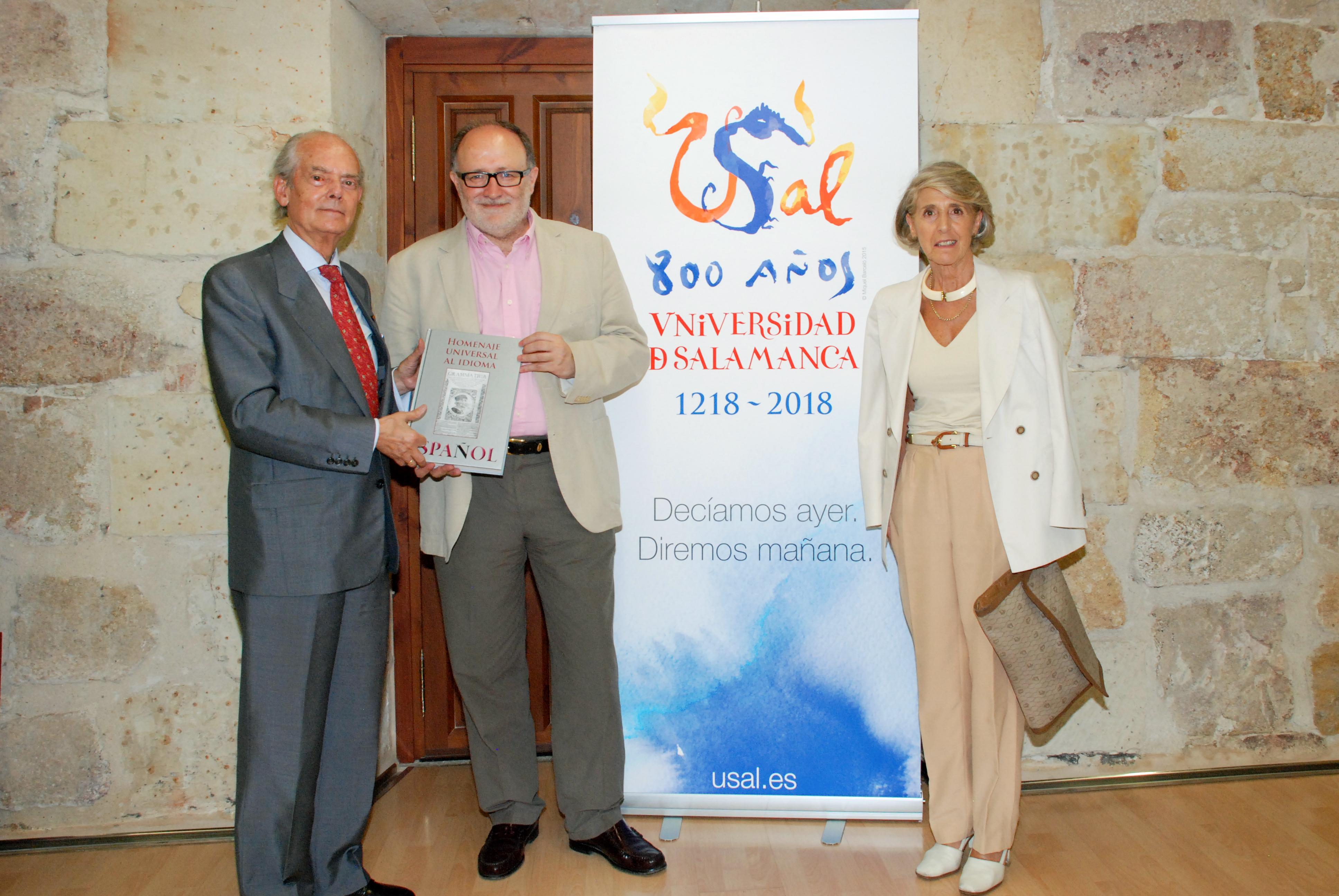 El vicerrector para la conmemoración del VIII Centenario recibe al presidente Comité Ejecutivo del Homenaje Universal al idioma Español