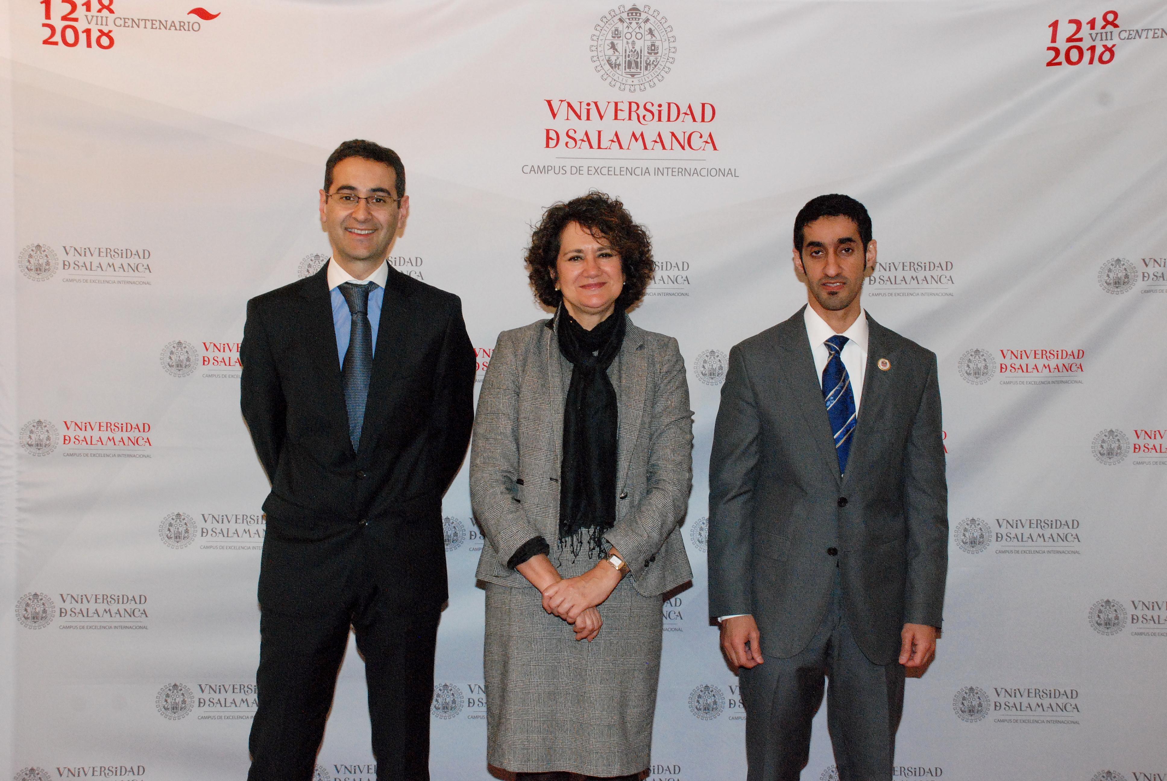 La vicerrectora de Internacionalización recibe a una delegación de la Embajada de Emiratos Árabes Unidos en España