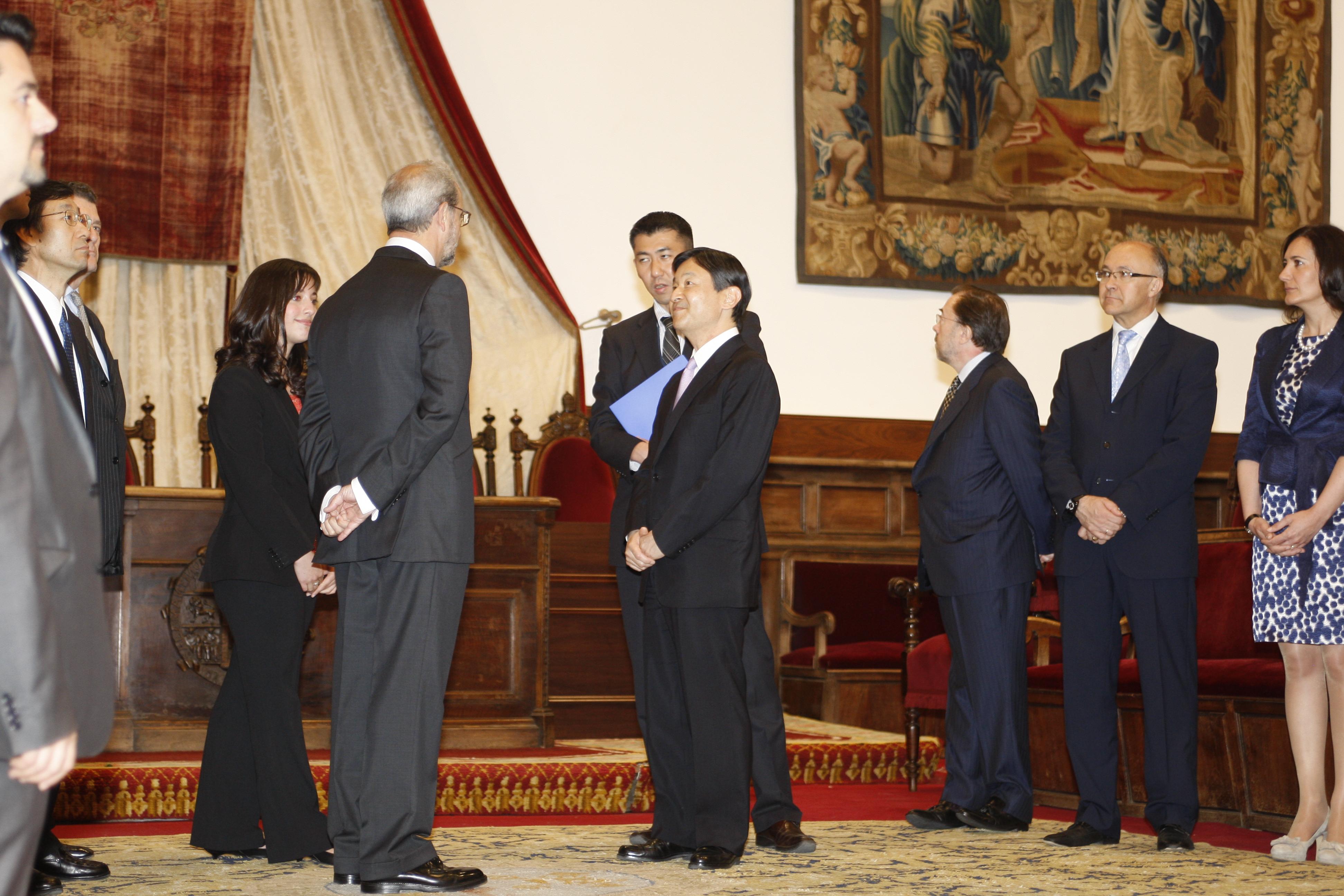 Visita de Su Alteza Imperial el Príncipe Heredero de Japón a la Universidad de Salamanca