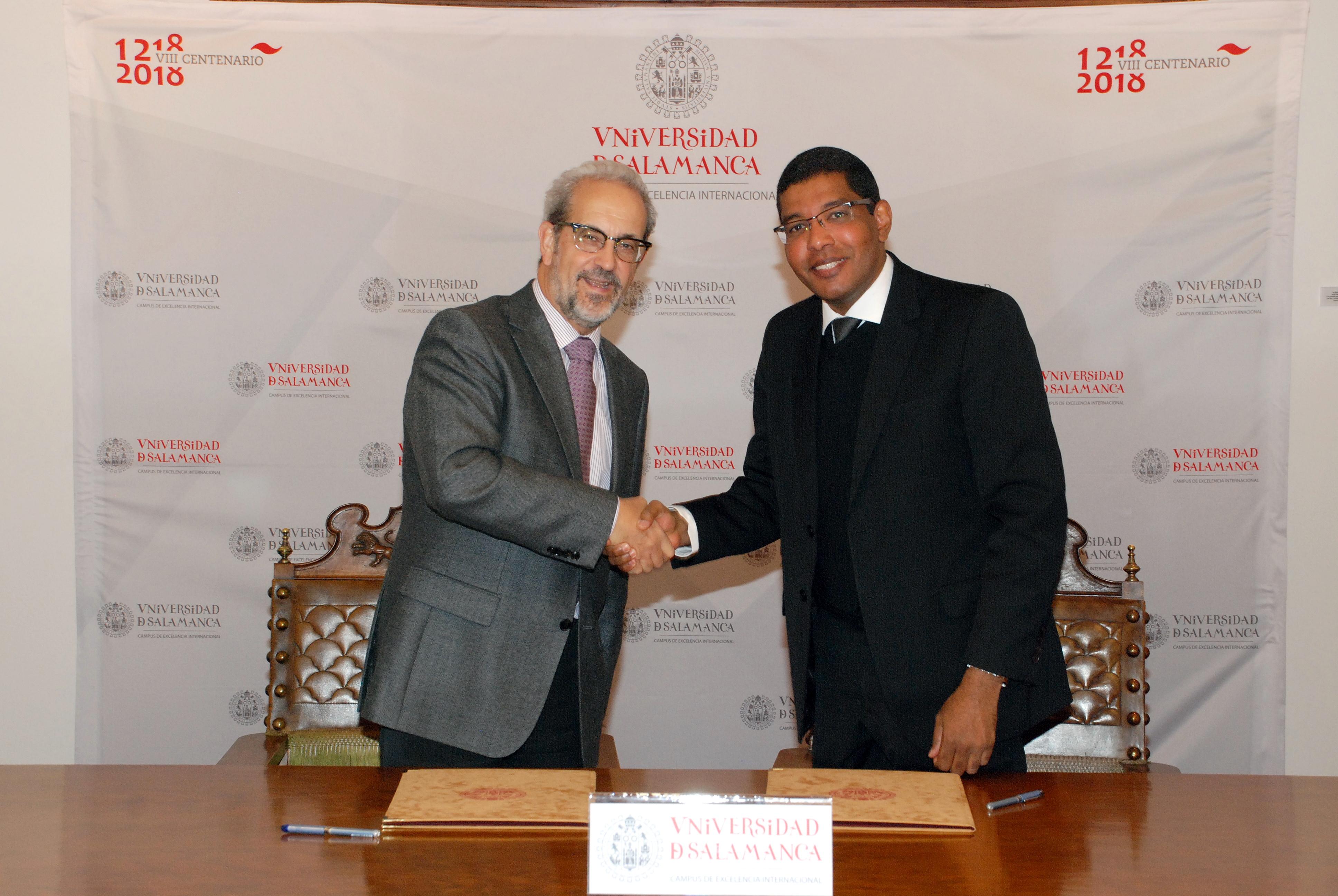 La Universidad de Salamanca y la Universidade Católica do Salvador suscriben un convenio marco de cooperación y colaboración institucional