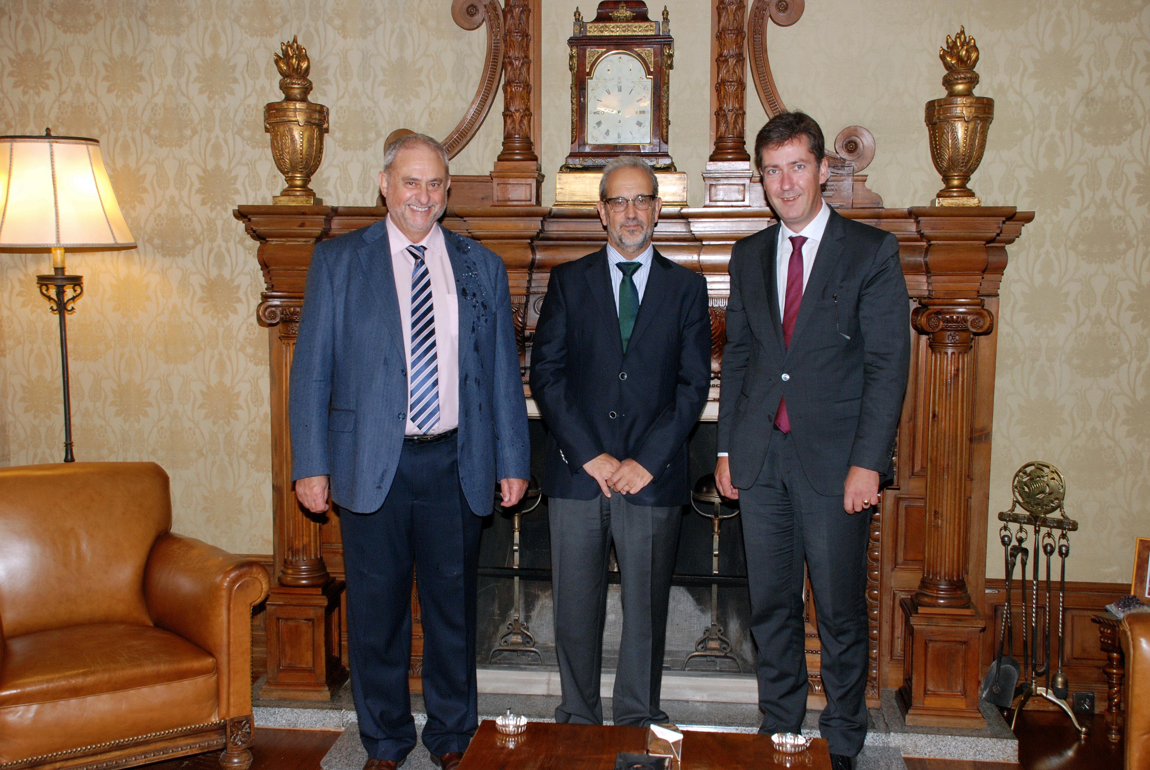 El rector recibe al alcalde de Würzburg, Christian Schuchardt
