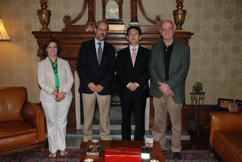 Visita del embajador de Corea del Sur en España