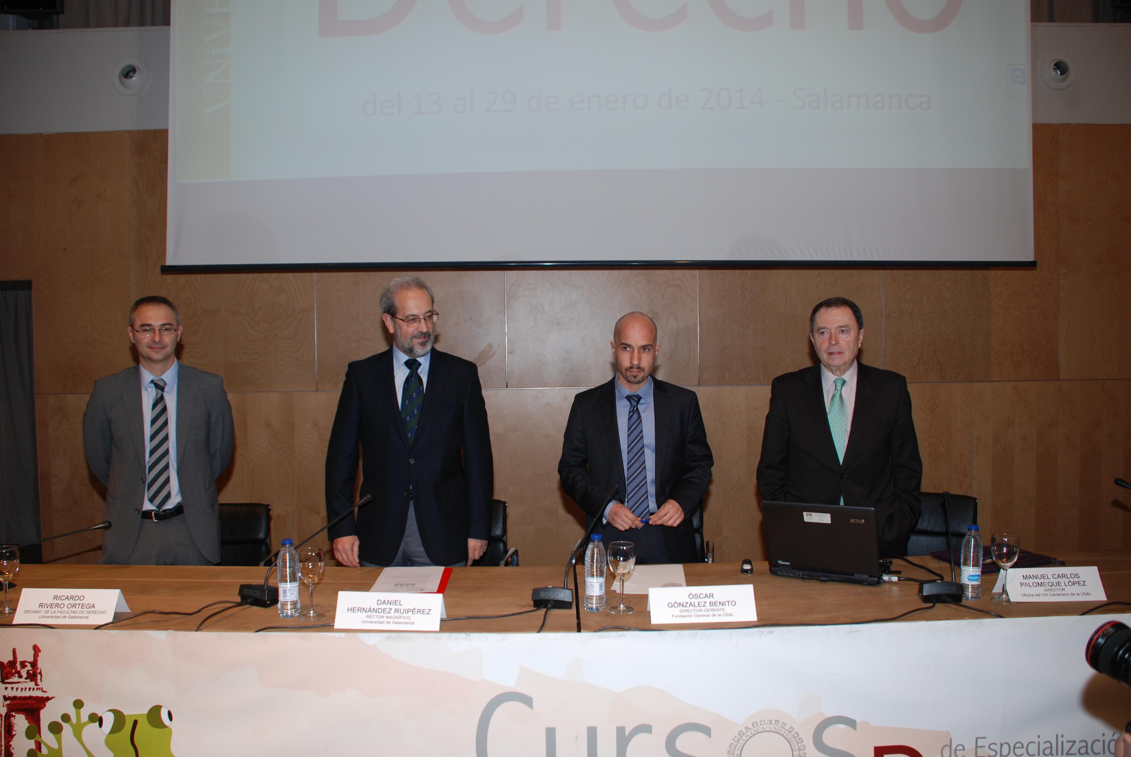 El rector inaugura los XXXIV Cursos de Especialización en Derecho de la Universidad de Salamanca