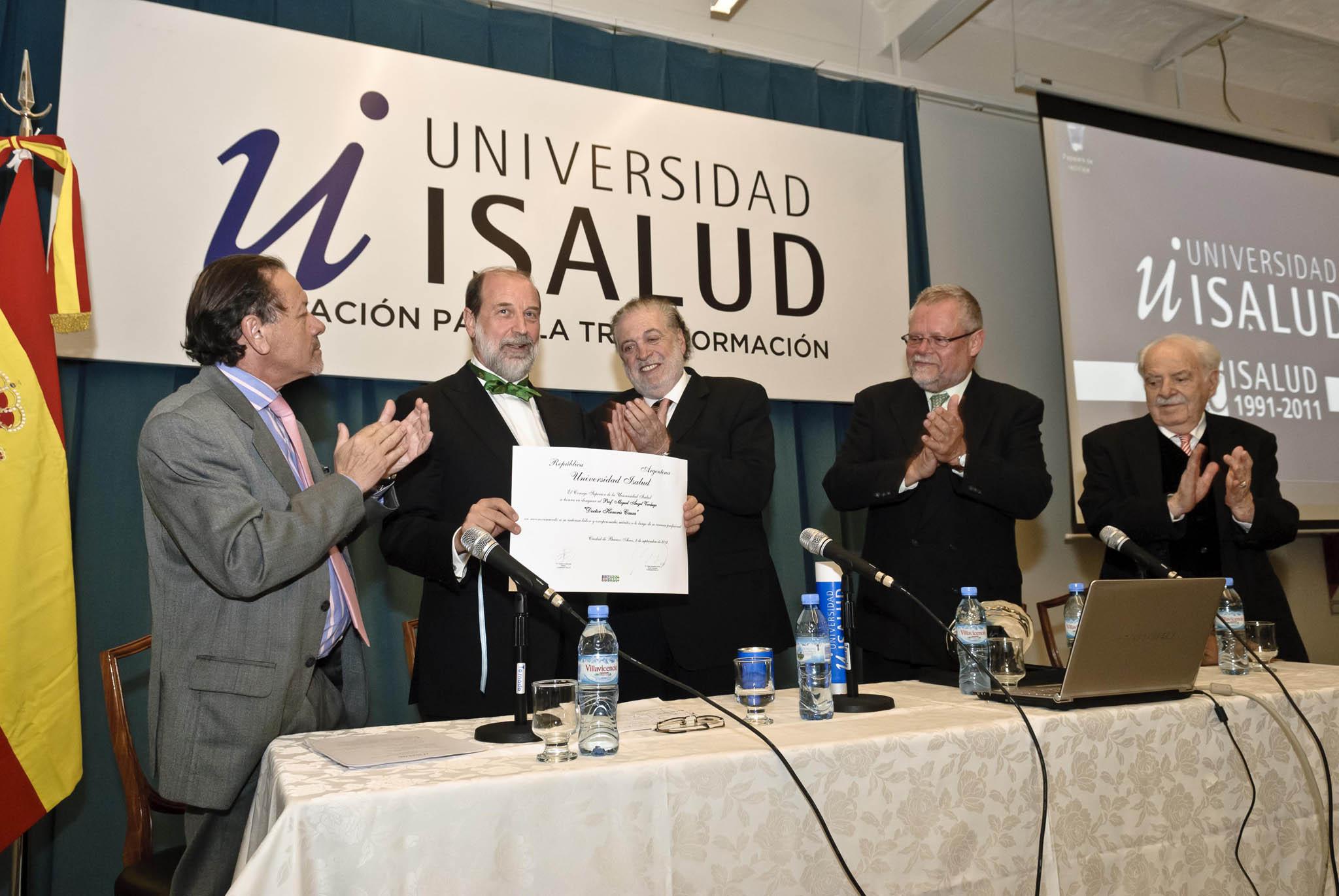 La Universidad ISALUD de Argentina nombra doctor honoris causa al catedrático de la Universidad de Salamanca Miguel Ángel Verdugo