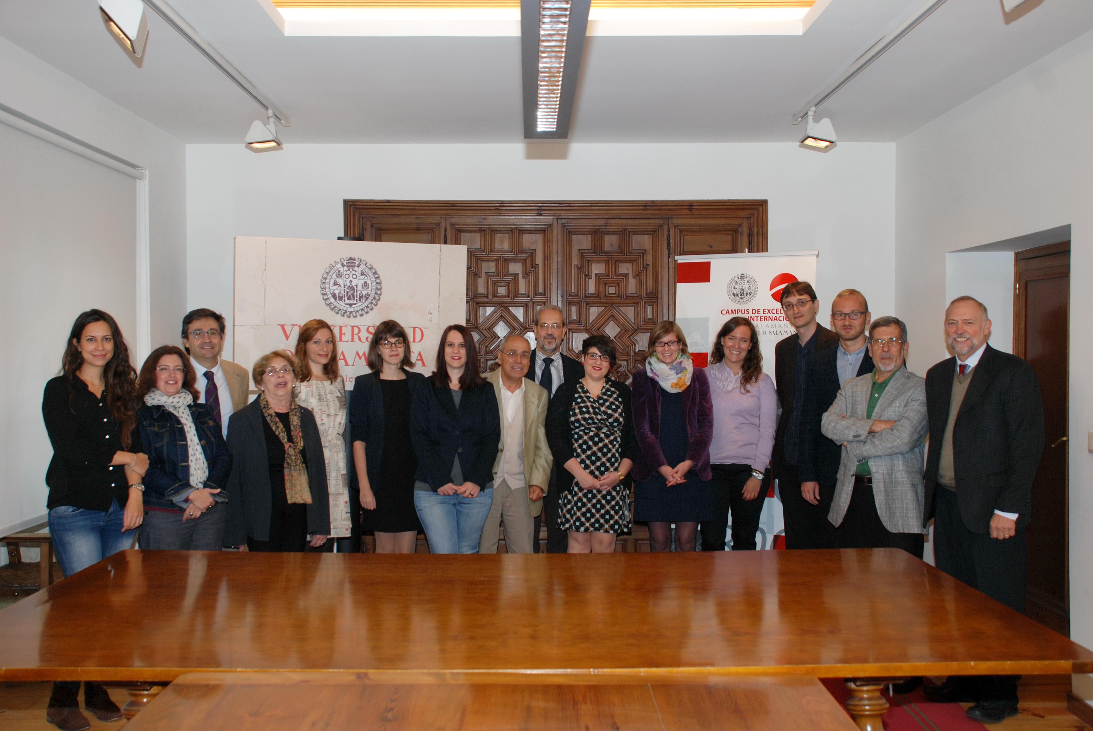 El rector recibe a los investigadores y profesores visitantes internacionales de la Cátedra de Altos Estudios del Español