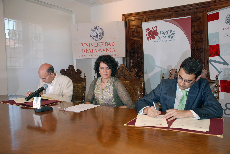 Firma del convenio entre el Parque Científico y Arbórea Gestión Ambiental