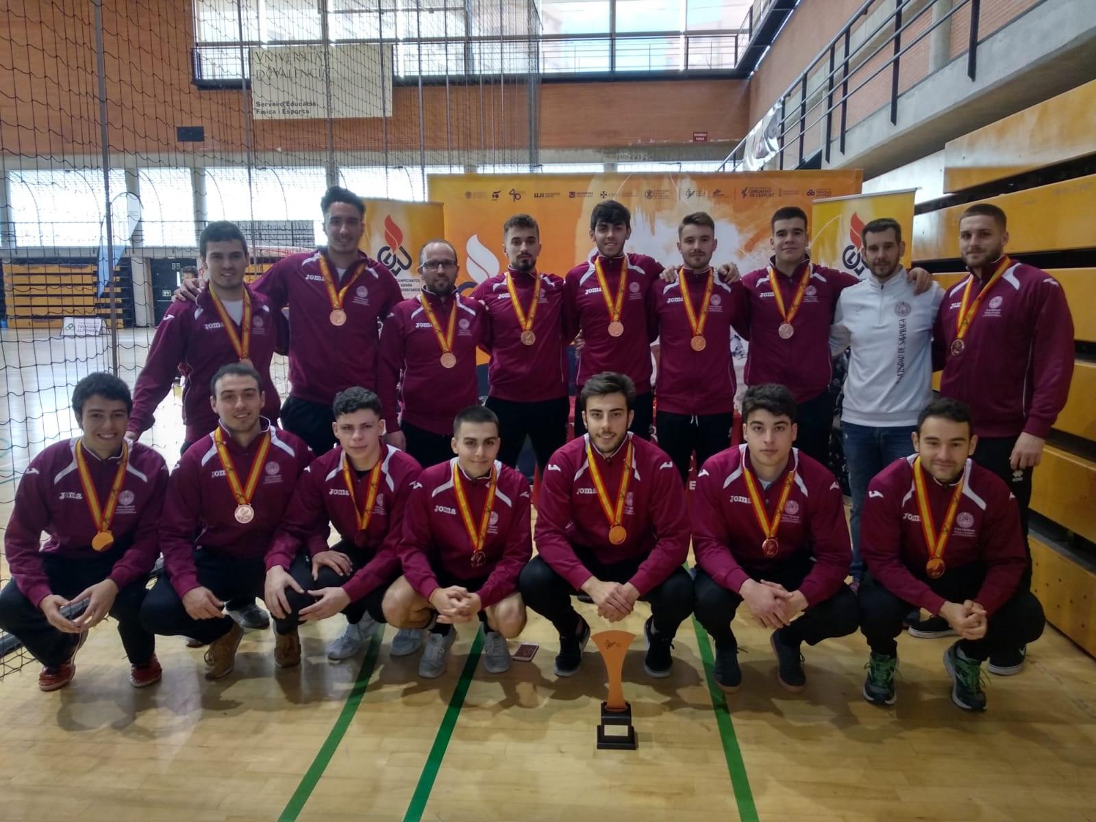 El equipo de balonmano masculino de la Universidad de Salamanca se alza con el bronce en los Campeonatos de España Universitarios