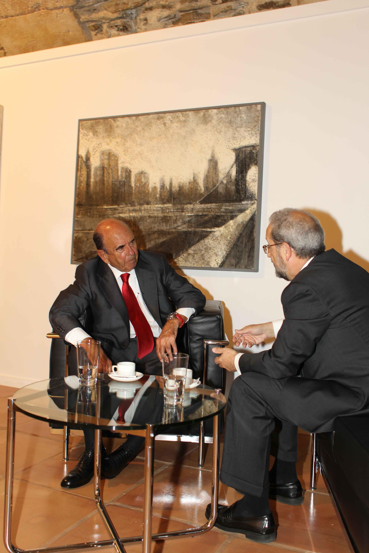 Encuentro entre el rector y el presidente del Banco Santander