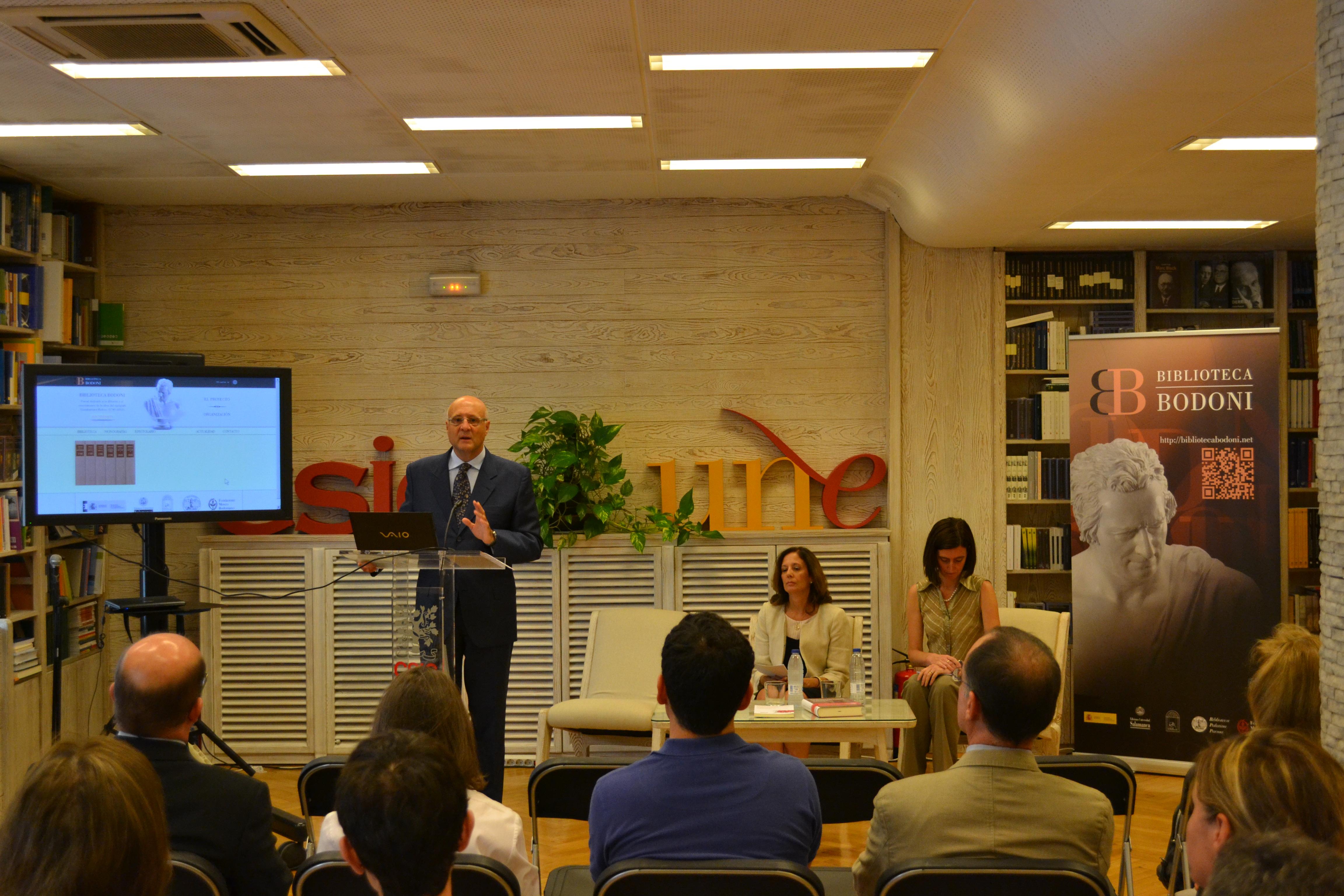 La Universidad de Salamanca presenta la primera biblioteca digital bodoniana