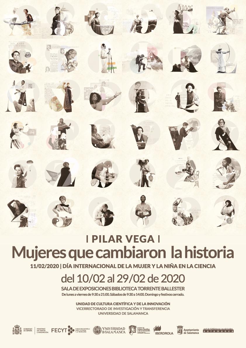 La Universidad de Salamanca reivindica a las 'Mujeres que cambiaron la historia' con una exposición que pone rostro femenino a 37 grandes logros de la humanidad
