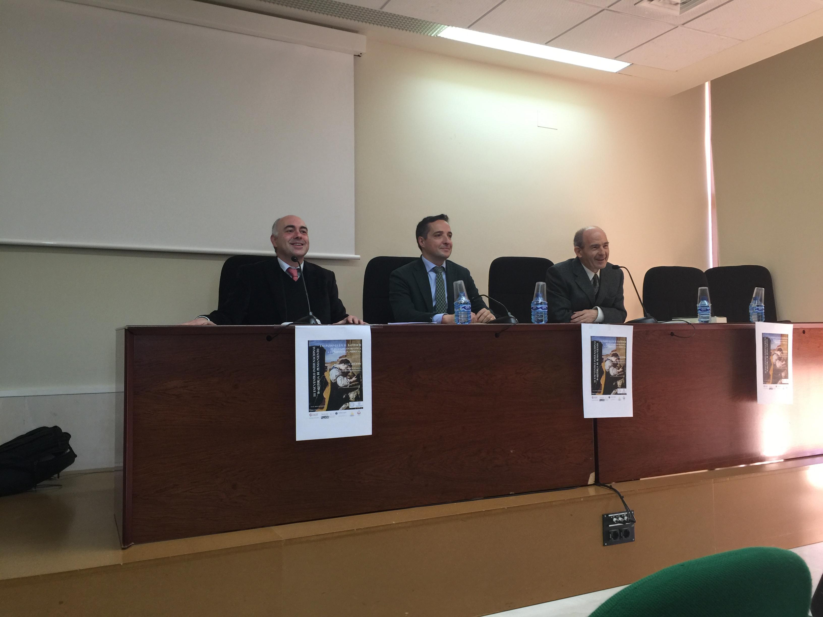 El vicerrector de Investigación y Transferencia asiste a la inauguración del III Encuentro Internacional de Historia del Pensamiento