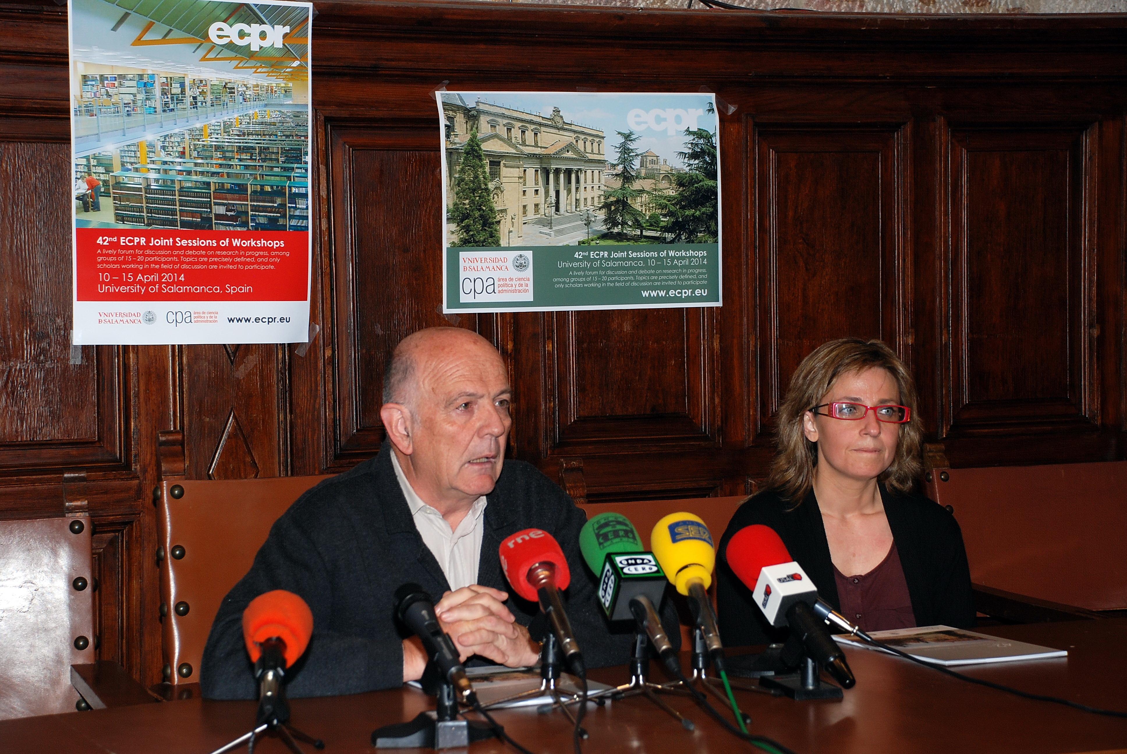 Rueda de prensa: El catedrático Manuel Alcántara presenta el programa del congreso europeo de la Asociación Europea de Ciencia Política, que reunirá en la Universidad a más de 600 politólogos internacionales de primer orden