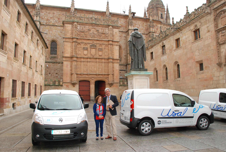 La Universidad de Salamanca implanta una flota de cinco furgonetas eléctricas