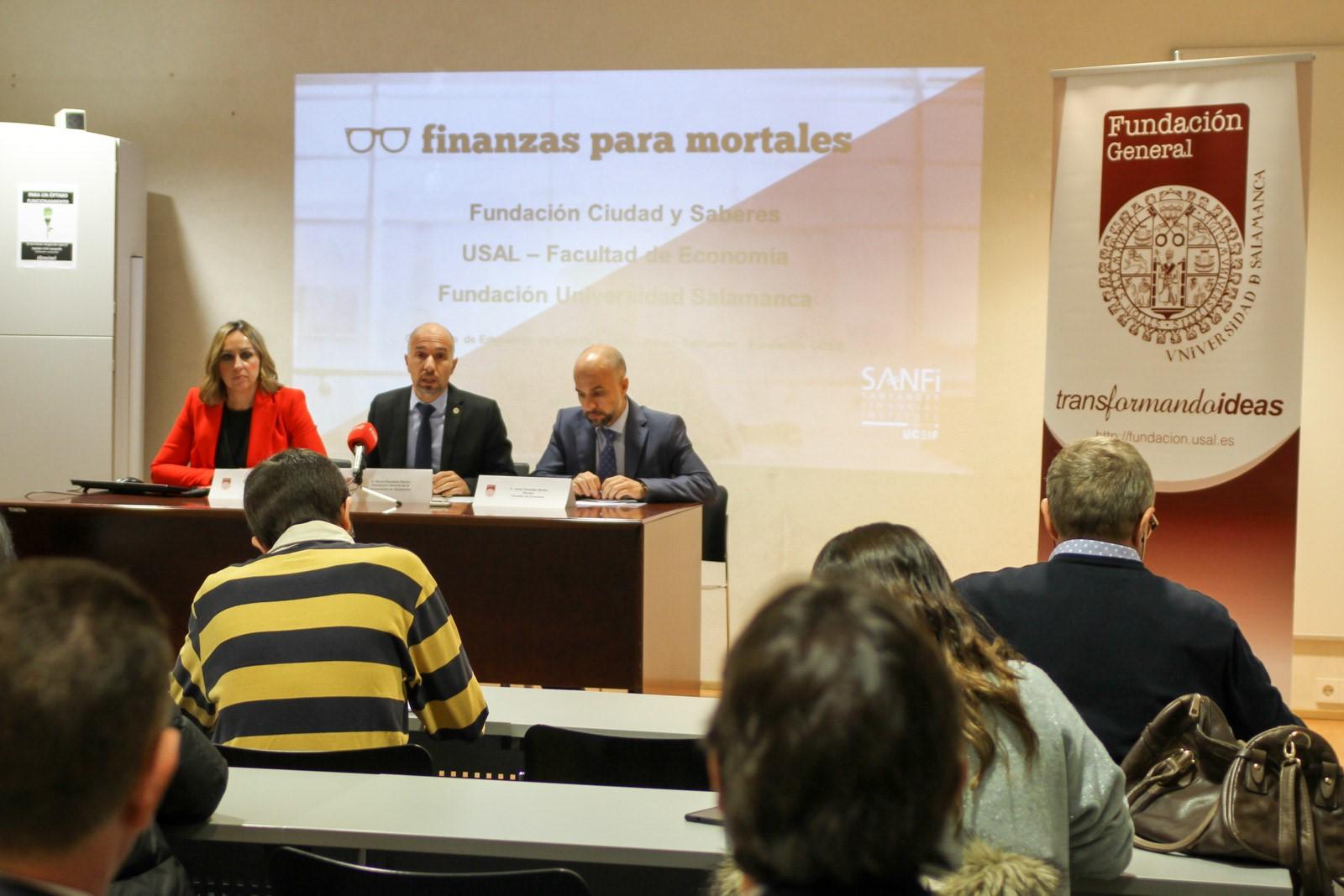 Rueda de prensa: La Facultad de Economía de la USAL acoge una iniciativa pionera en Educación Financiera