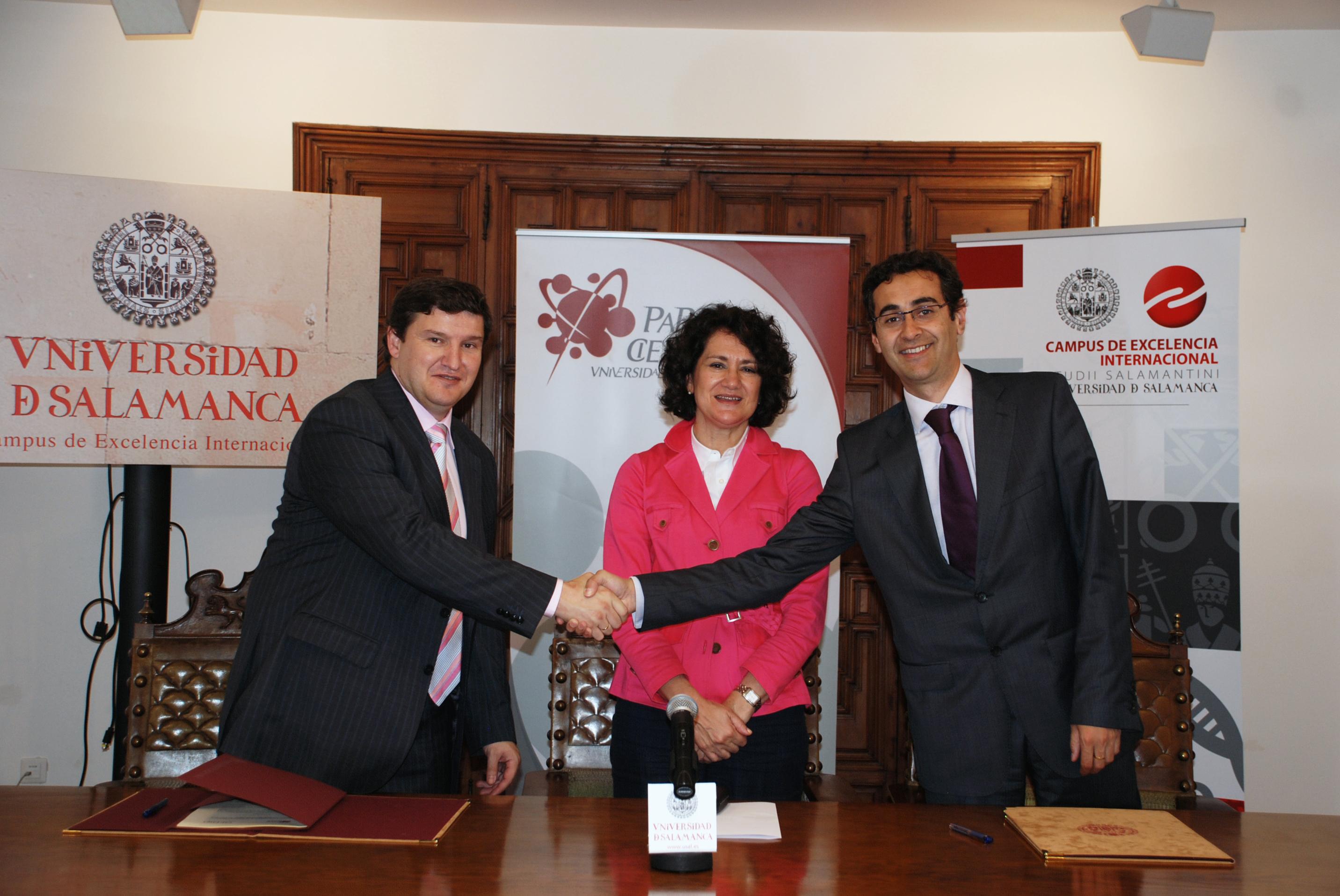 Firma del convenio entre el Parque Científico y Gestión Energética de la Biomasa