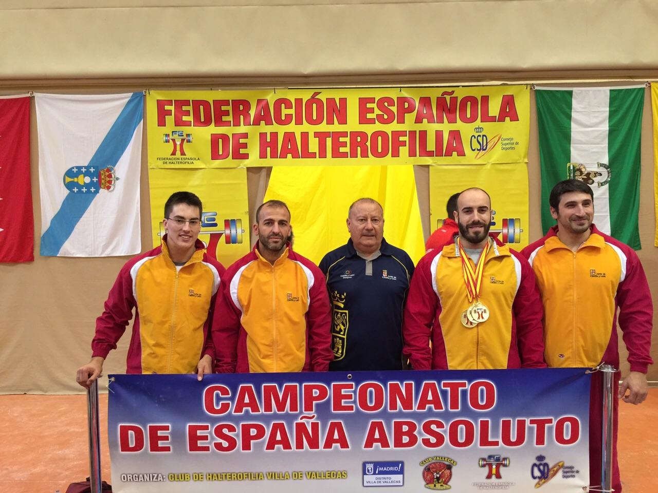 El haltera de la Universidad de Salamanca Ismael Alonso se alza con tres medallas de oro en el Campeonato de España Absoluto