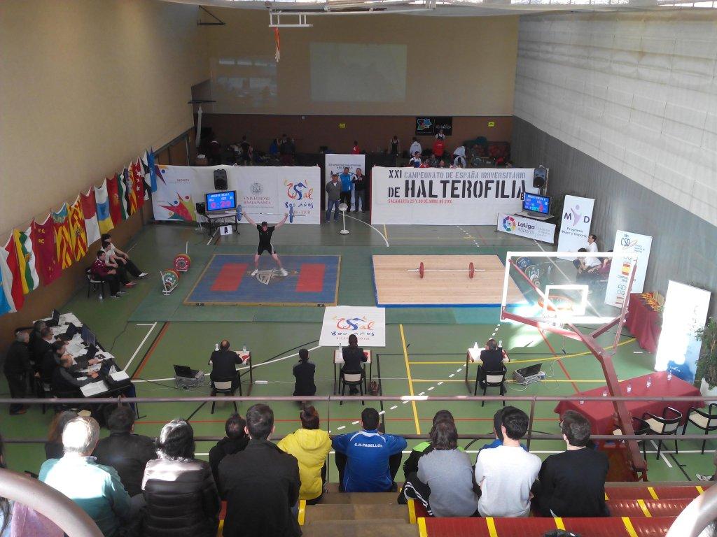 La Universidad de Salamanca, campeona por equipos en el Campeonato de España Universitario de Halterofilia
