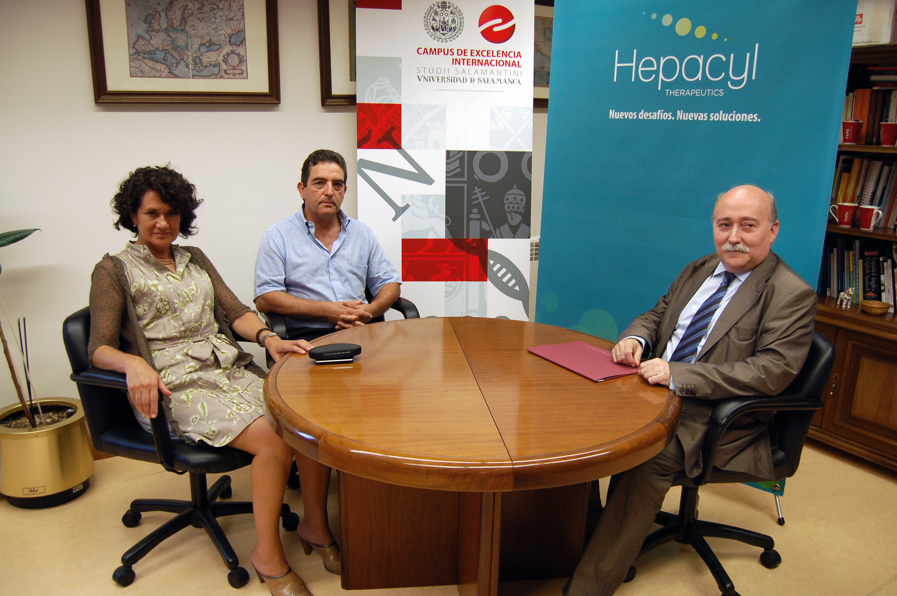 La Universidad de Salamanca suscribe un convenio de colaboración con Hepacyl Therapeutics