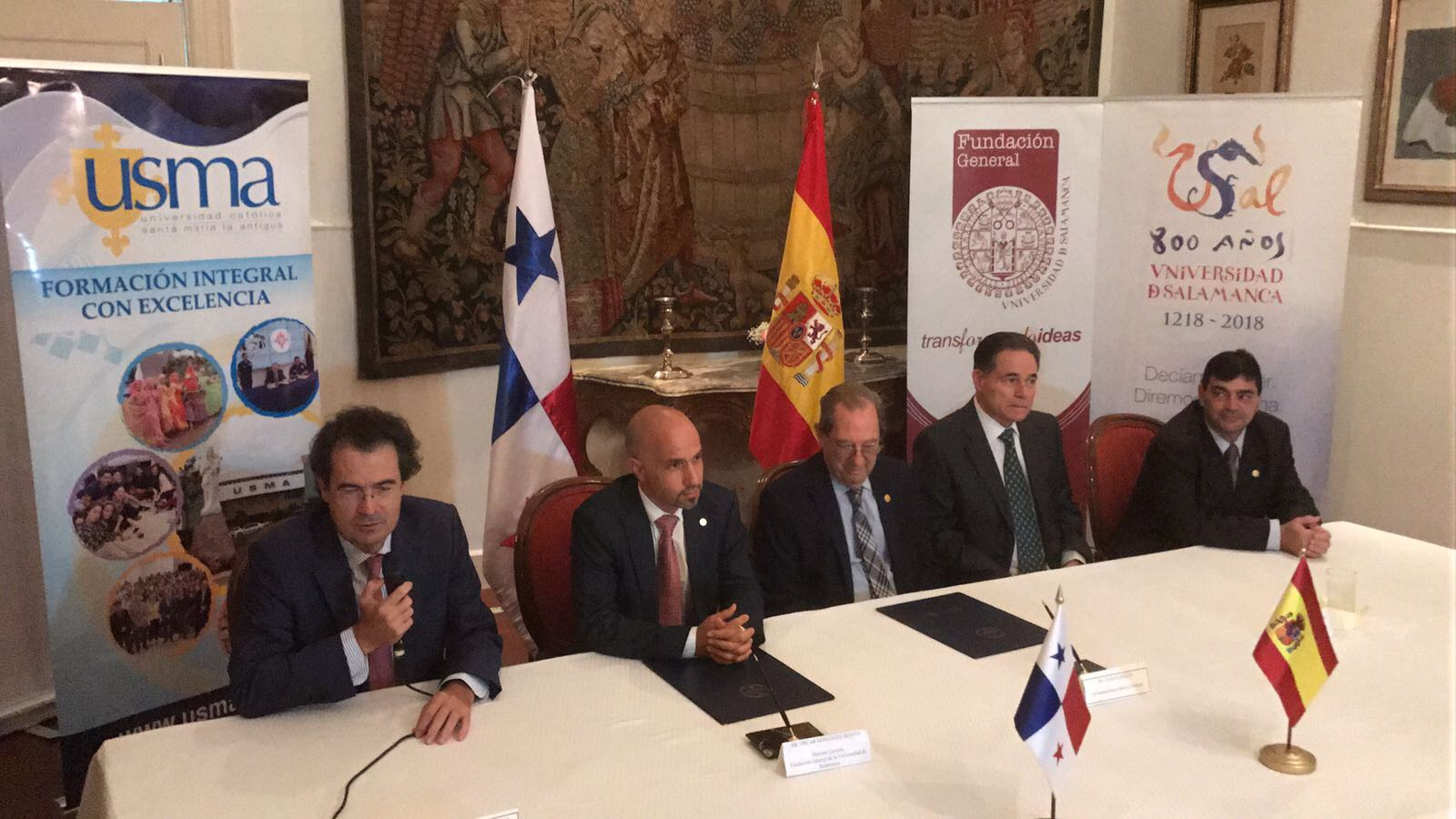 La Fundación General de la Universidad de Salamanca firma varios convenios de colaboración con instituciones gubernamentales panameñas