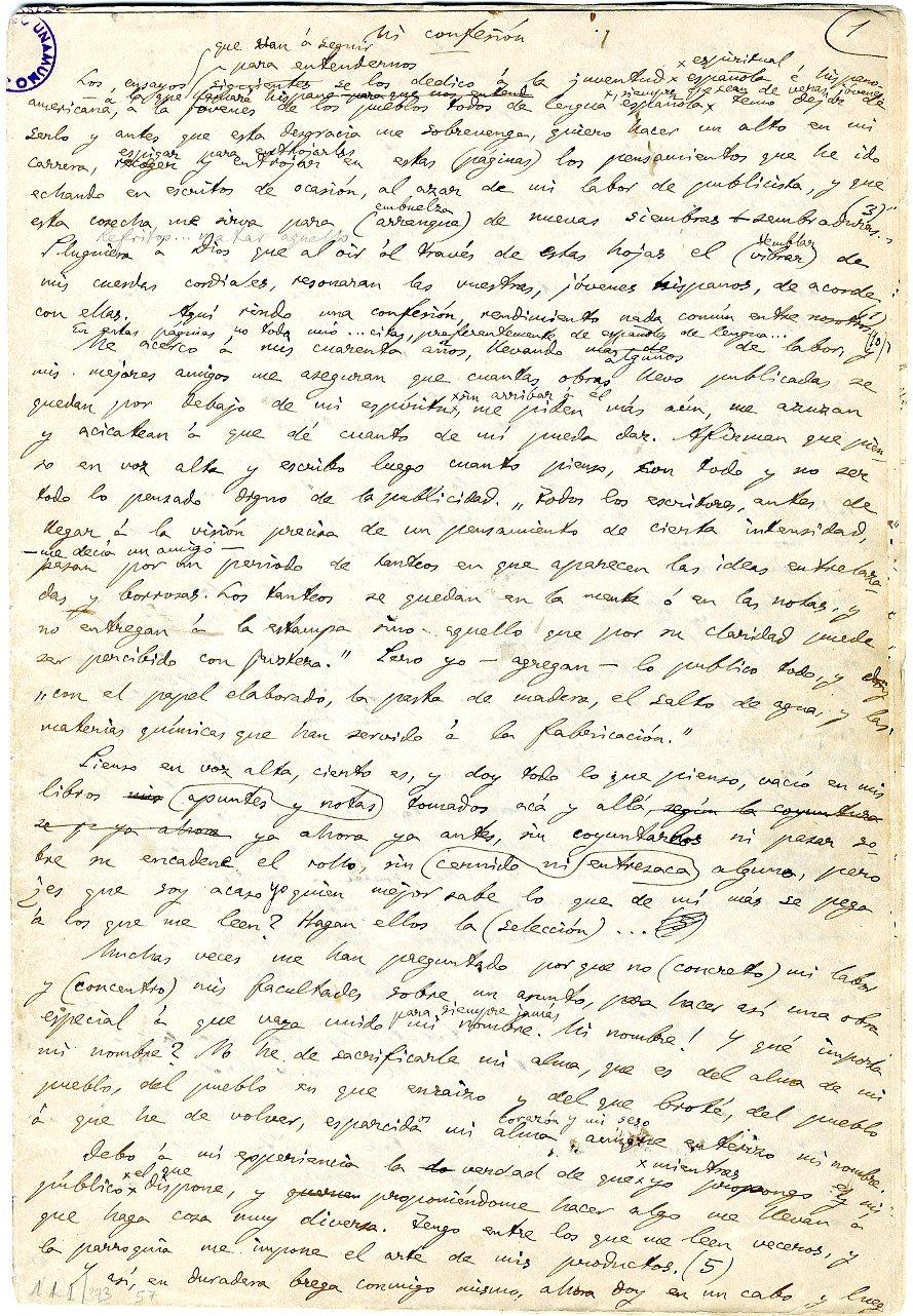 Una investigadora localiza un manuscrito inédito de Unamuno, oculto durante más de un siglo en su antigua residencia rectoral