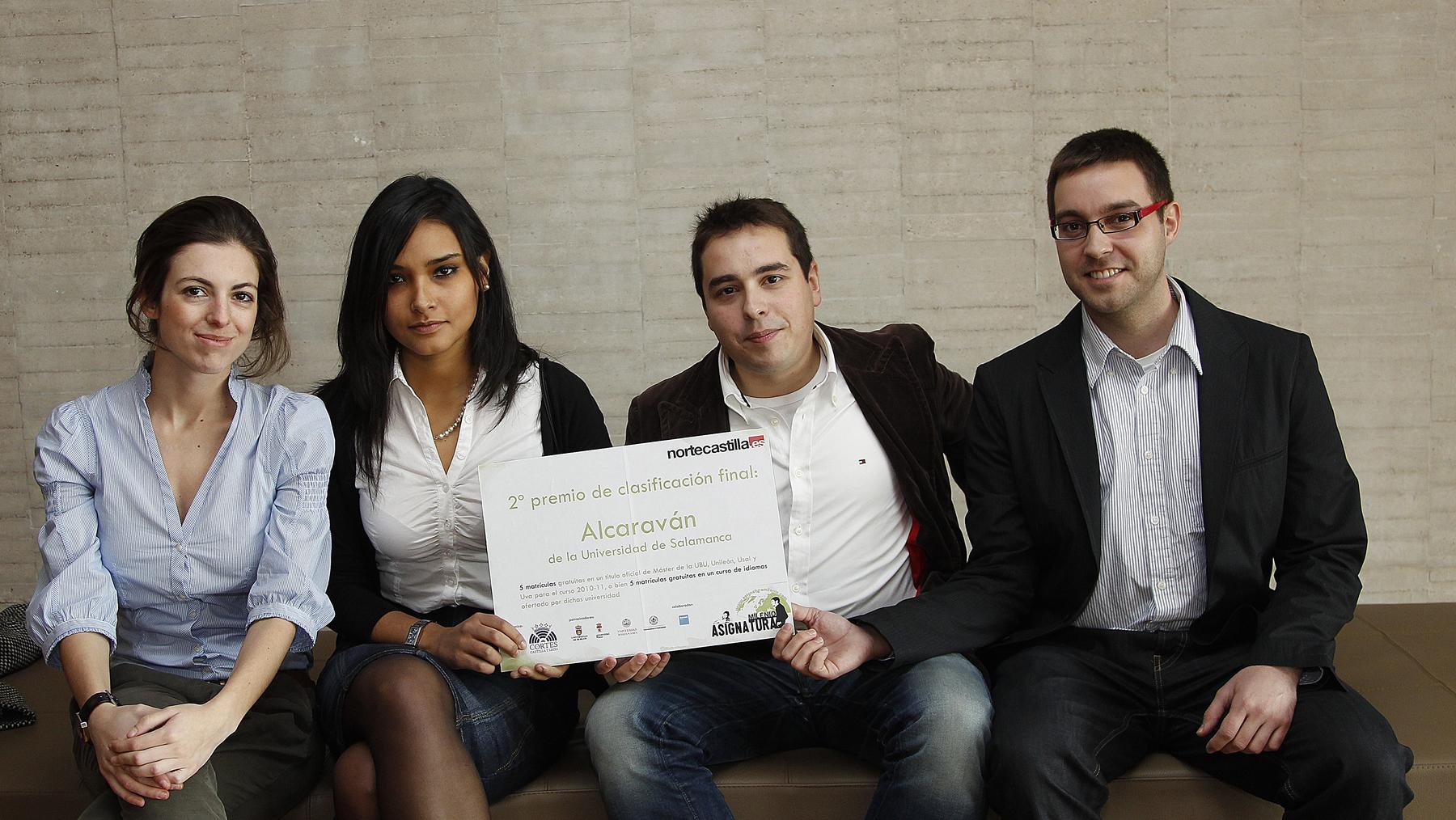 El equipo de la Universidad de Salamanca que obtuvo el segundo premio en la Asignatura Milenio