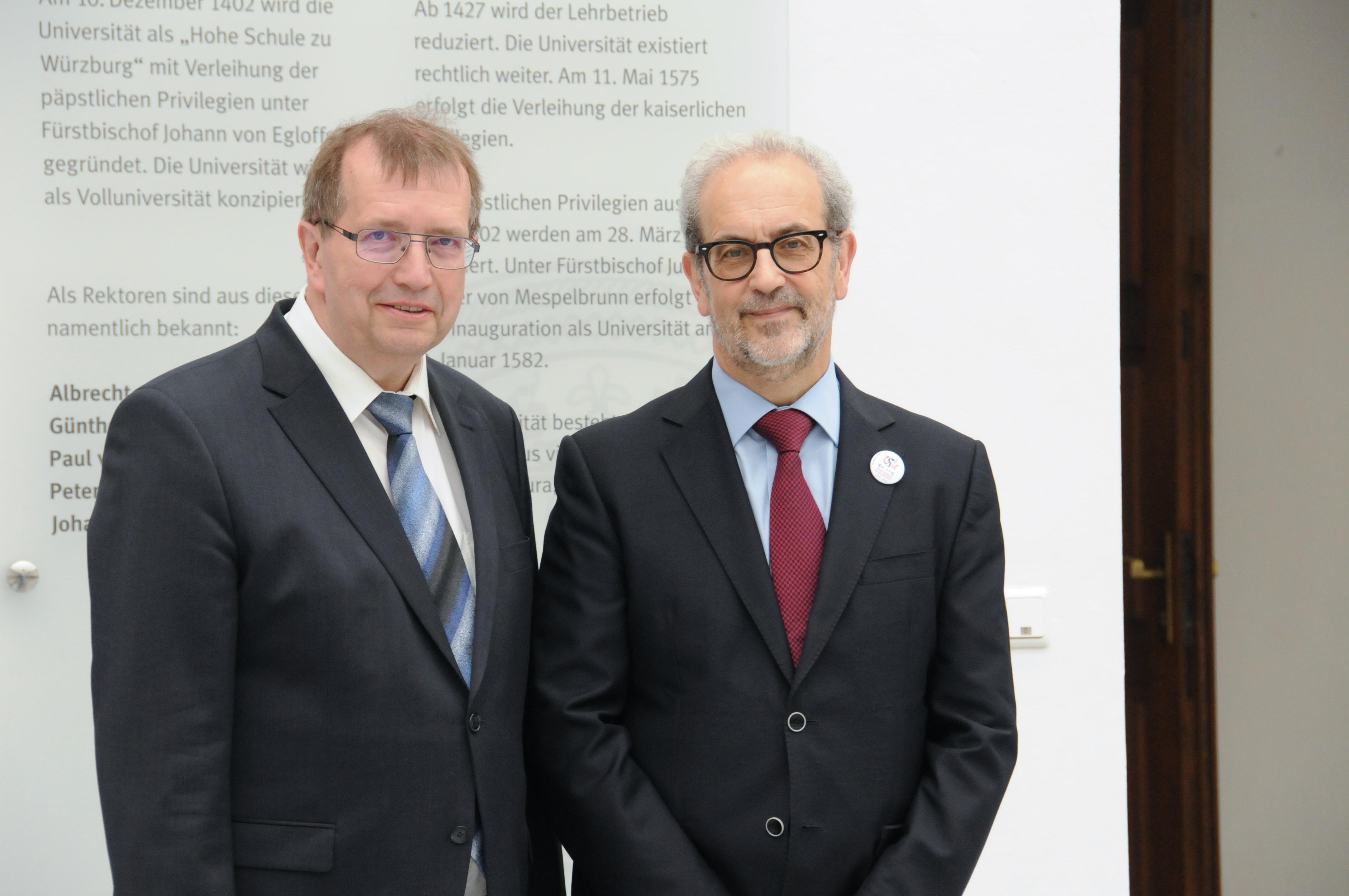 El rector de la Universidad de Salamanca realiza un viaje institucional a la ciudad de Würzburg