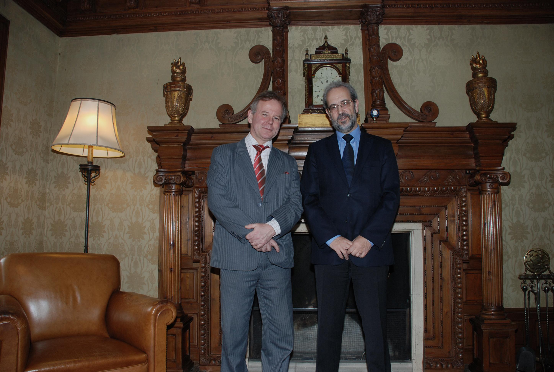 El rector Daniel Hernández Ruipérez recibe al rector de la Universidad de Oslo