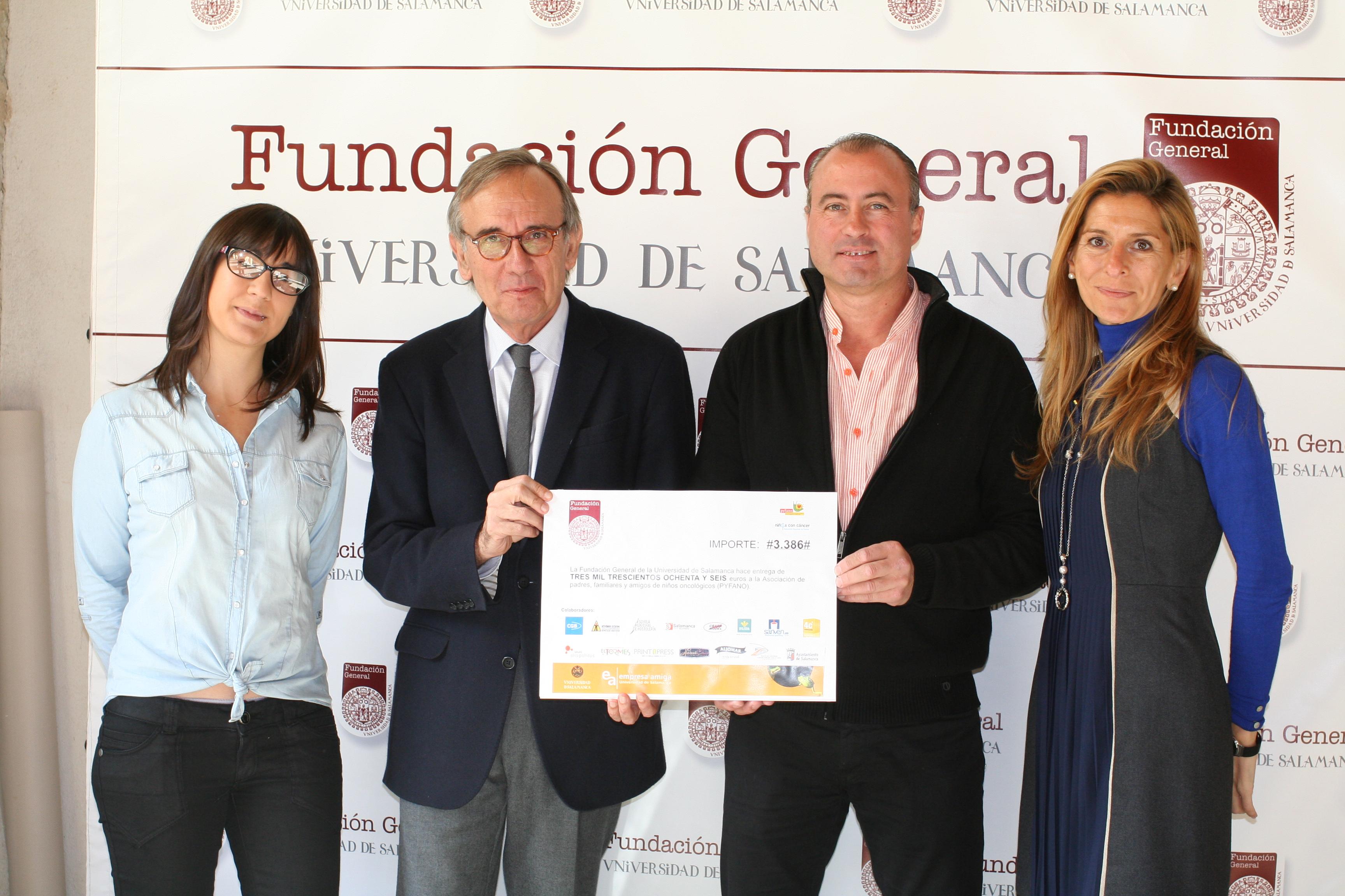 La Fundación General de la Universidad de Salamanca entrega más de 3.000 euros a la Asociación PYFANO
