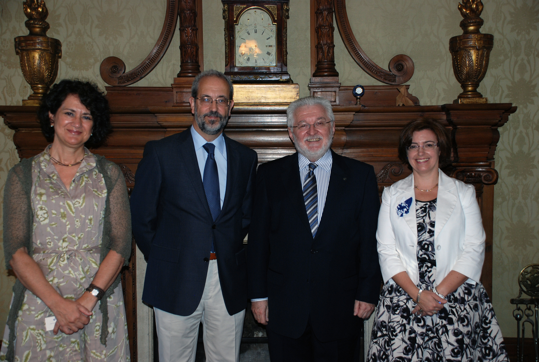 El rector de la Universidad de Salamanca recibe a su homólogo de la Universidade do Vale do Rio dos Sinos