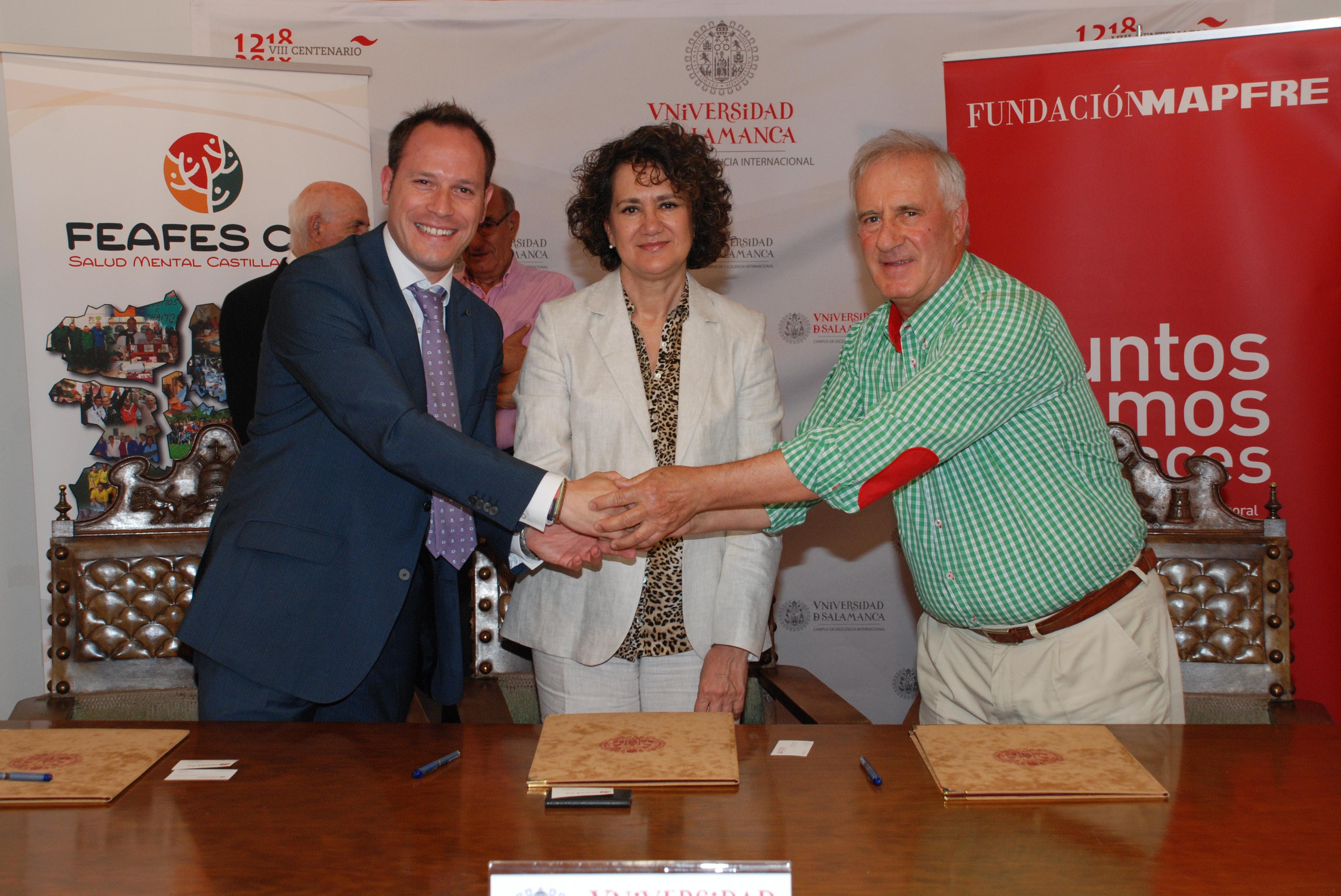 La Universidad de Salamanca, Fundación Mapfre y Feafes Castilla y León promueven la integración laboral de los jóvenes con enfermedad mental